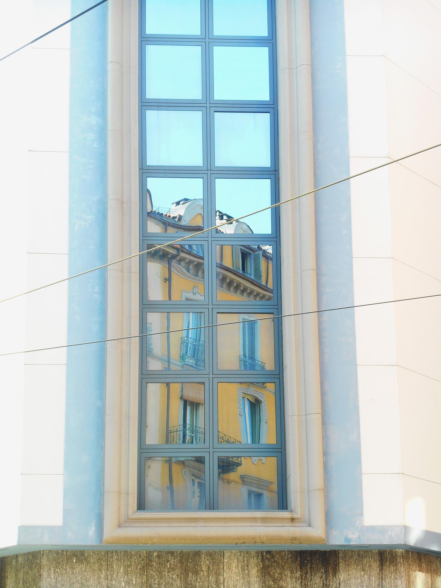 Torino reflected. Via Madama Cristina by clairettegardner