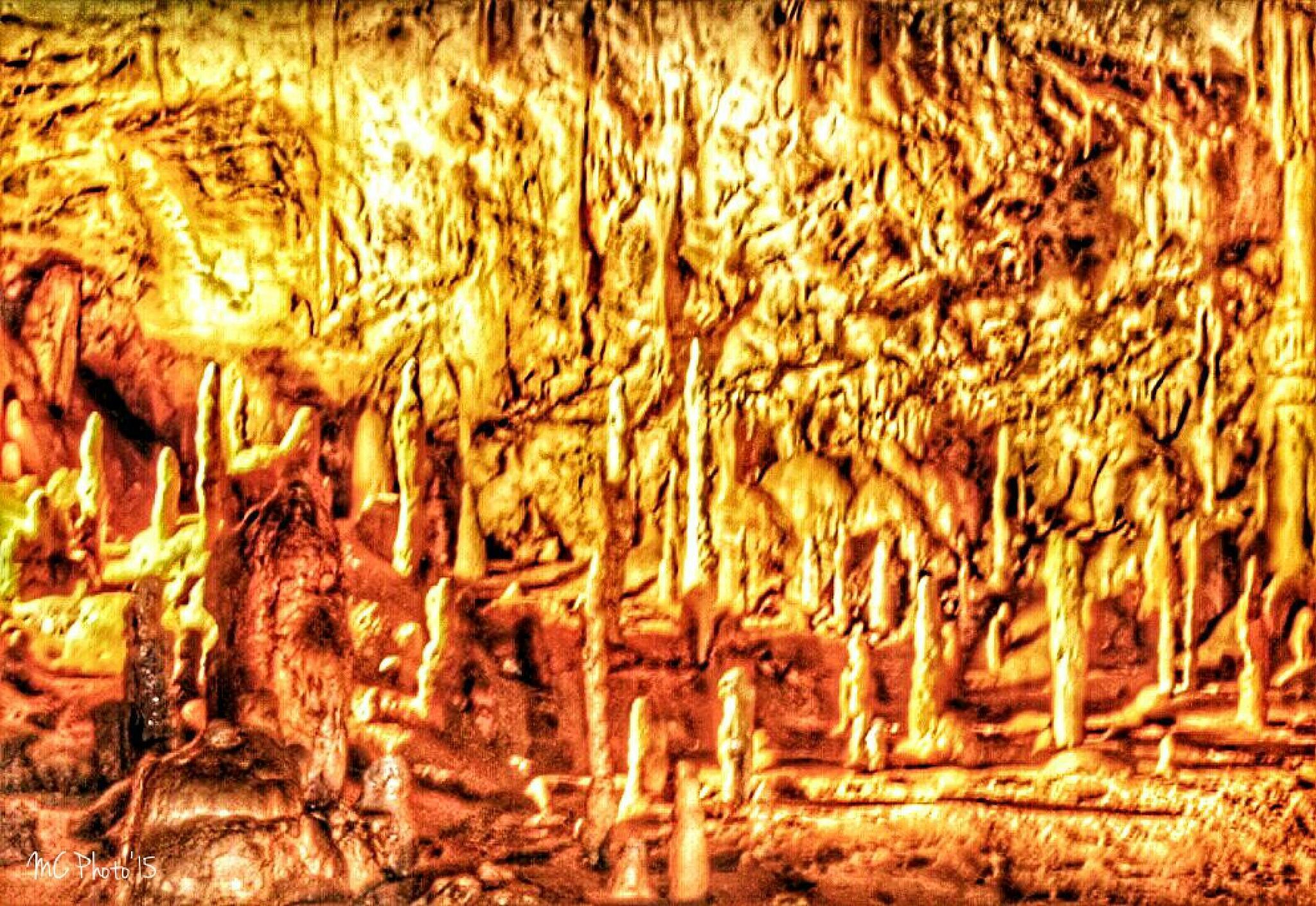 Golden Stagamites by Mario Cilia