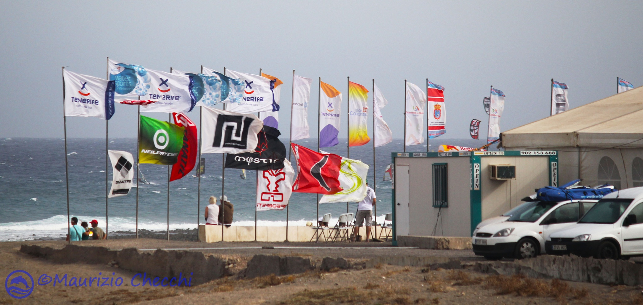 flags in the wind by maurizio