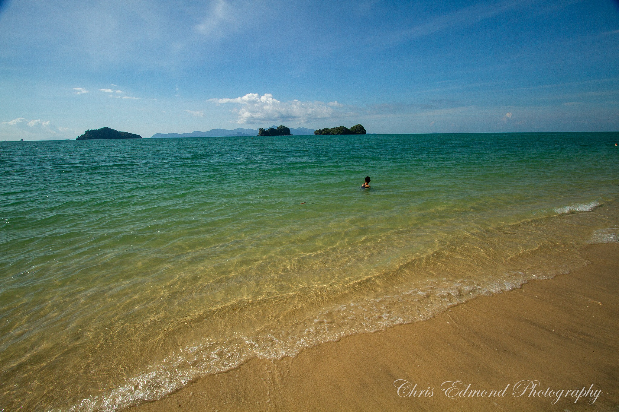 Lone swimmer by cedmond