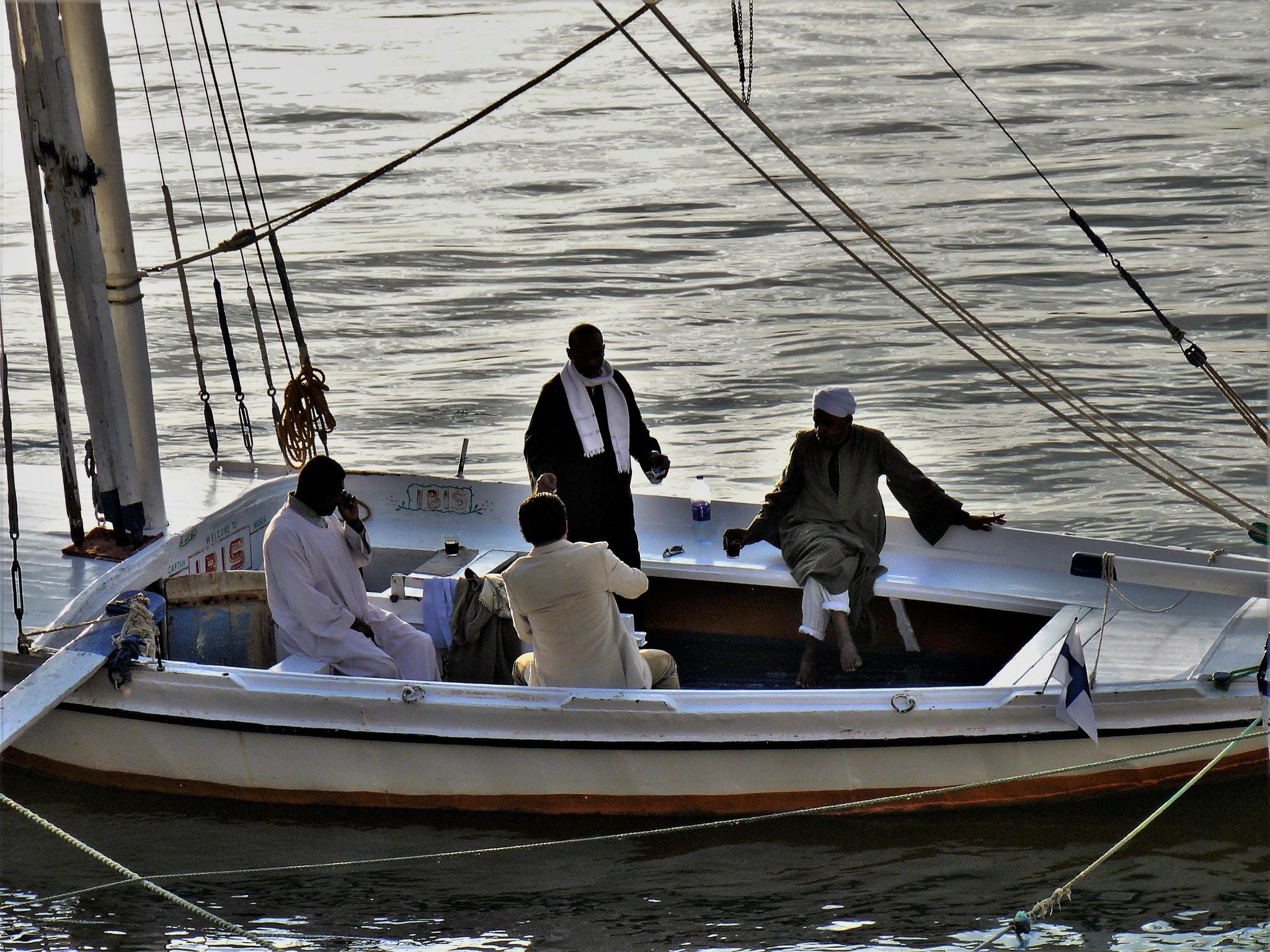 Felucca on the Nile by Edualc Eznad