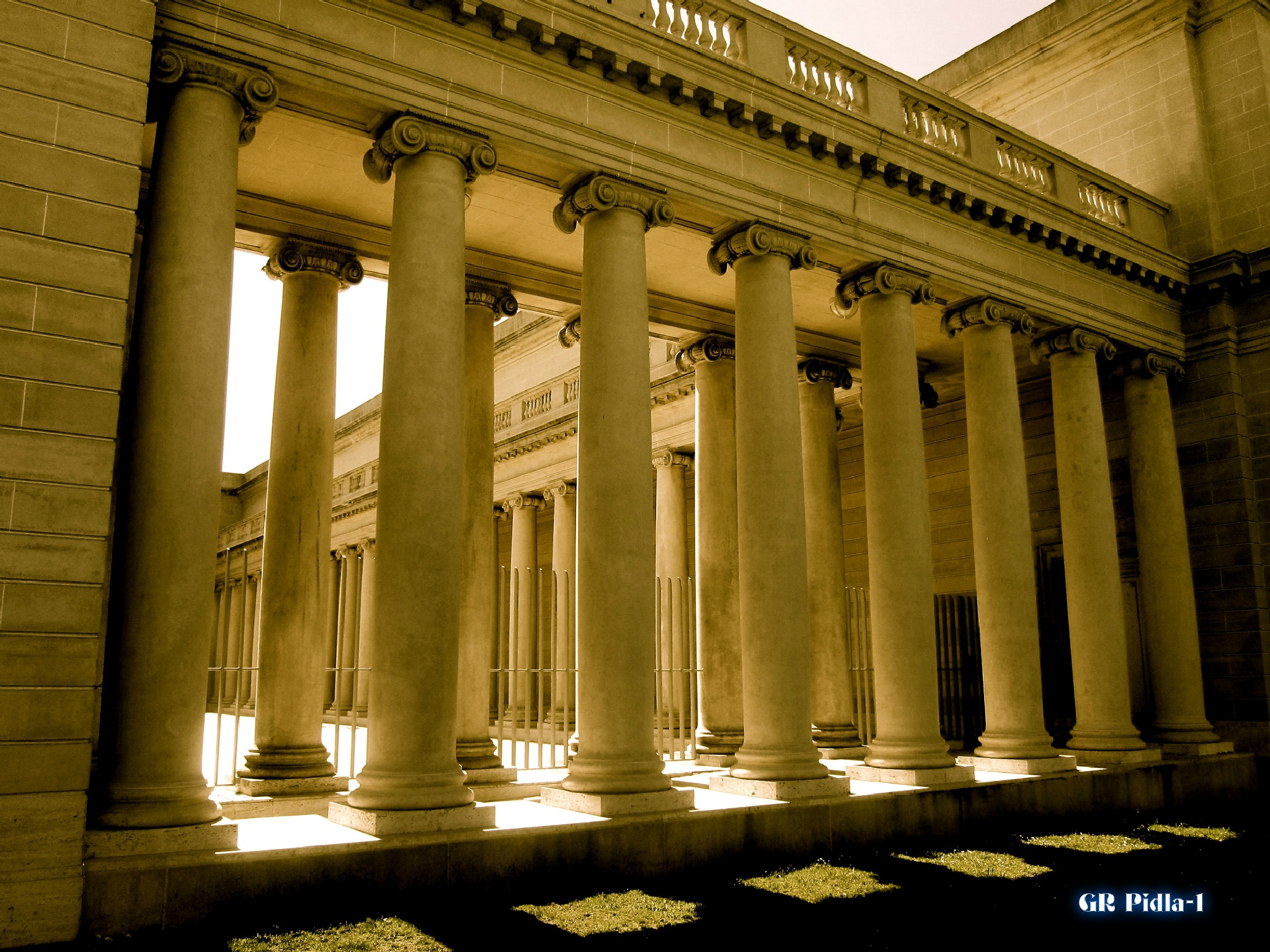 Columns at Legion of Honor by Gina  Alwaysmile (*_*)