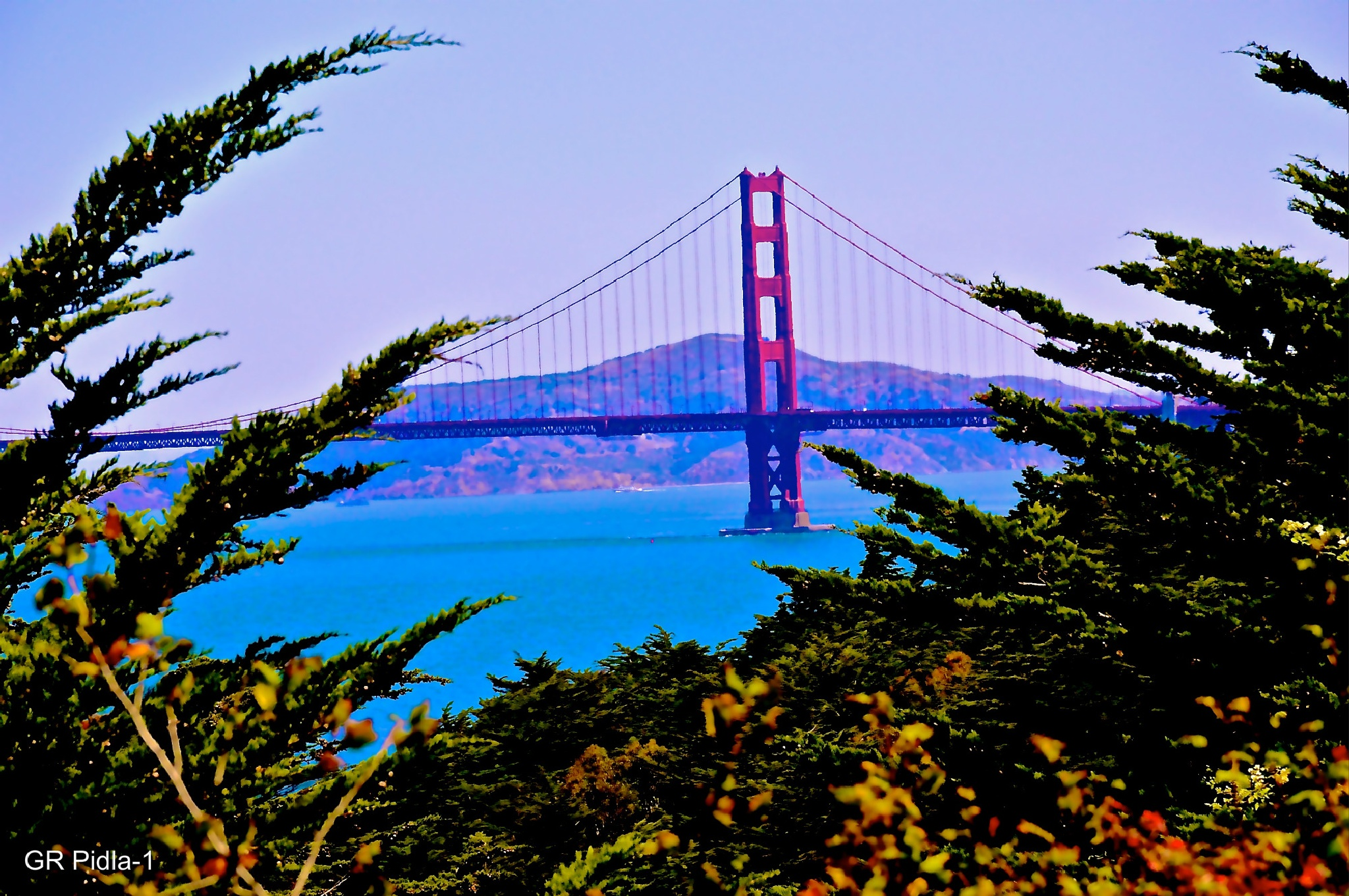 South Tower of the Golden Gate Bridge by Gina  Alwaysmile (*_*)