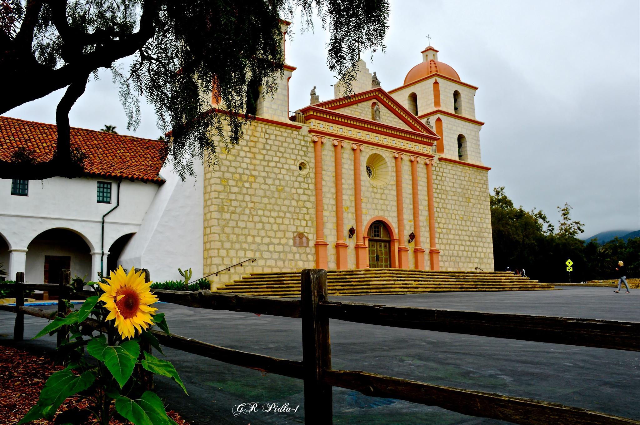 Mission Santa Barbara Church by Gina  Alwaysmile (*_*)