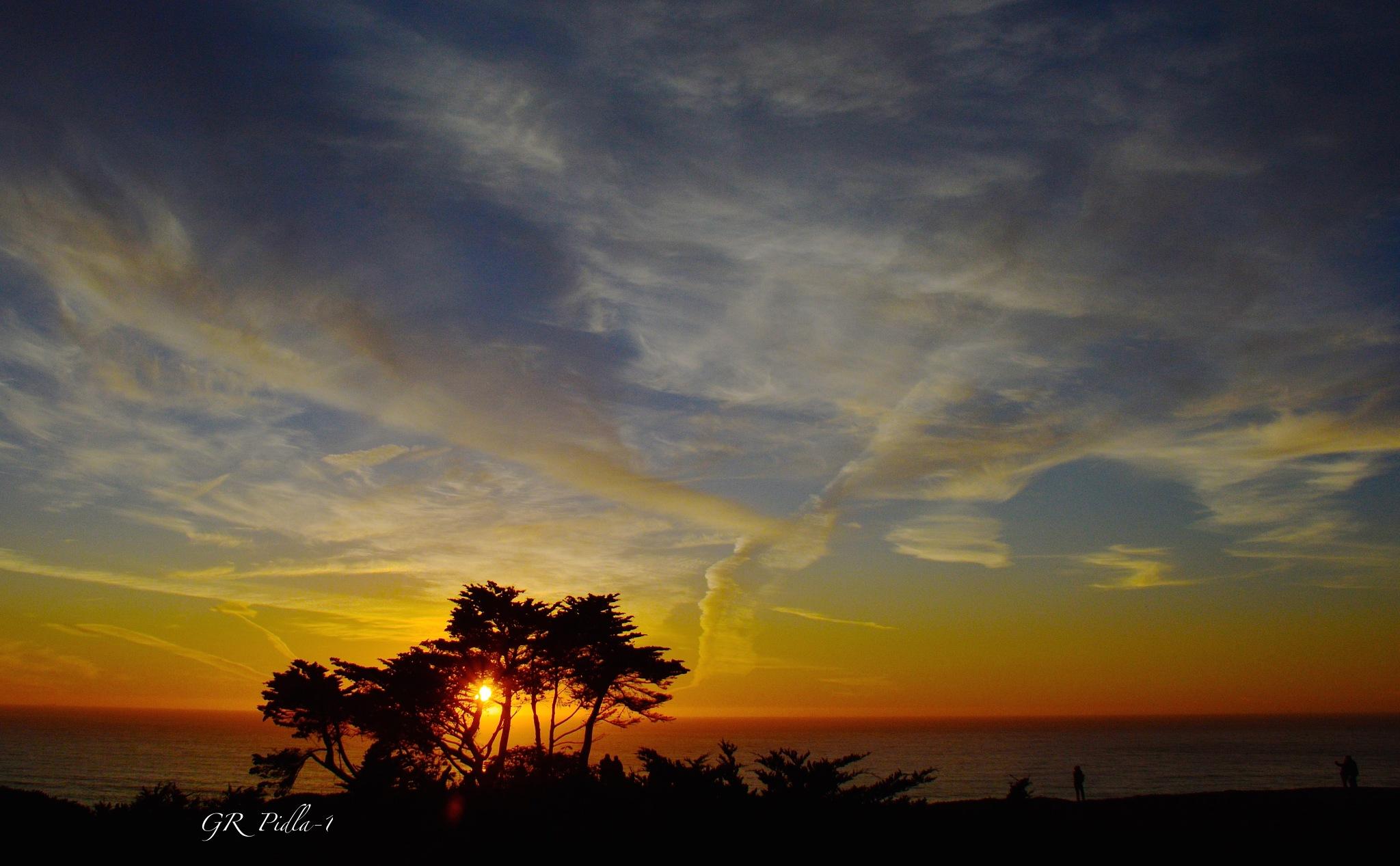Golden Sunset  by Gina  Alwaysmile (*_*)