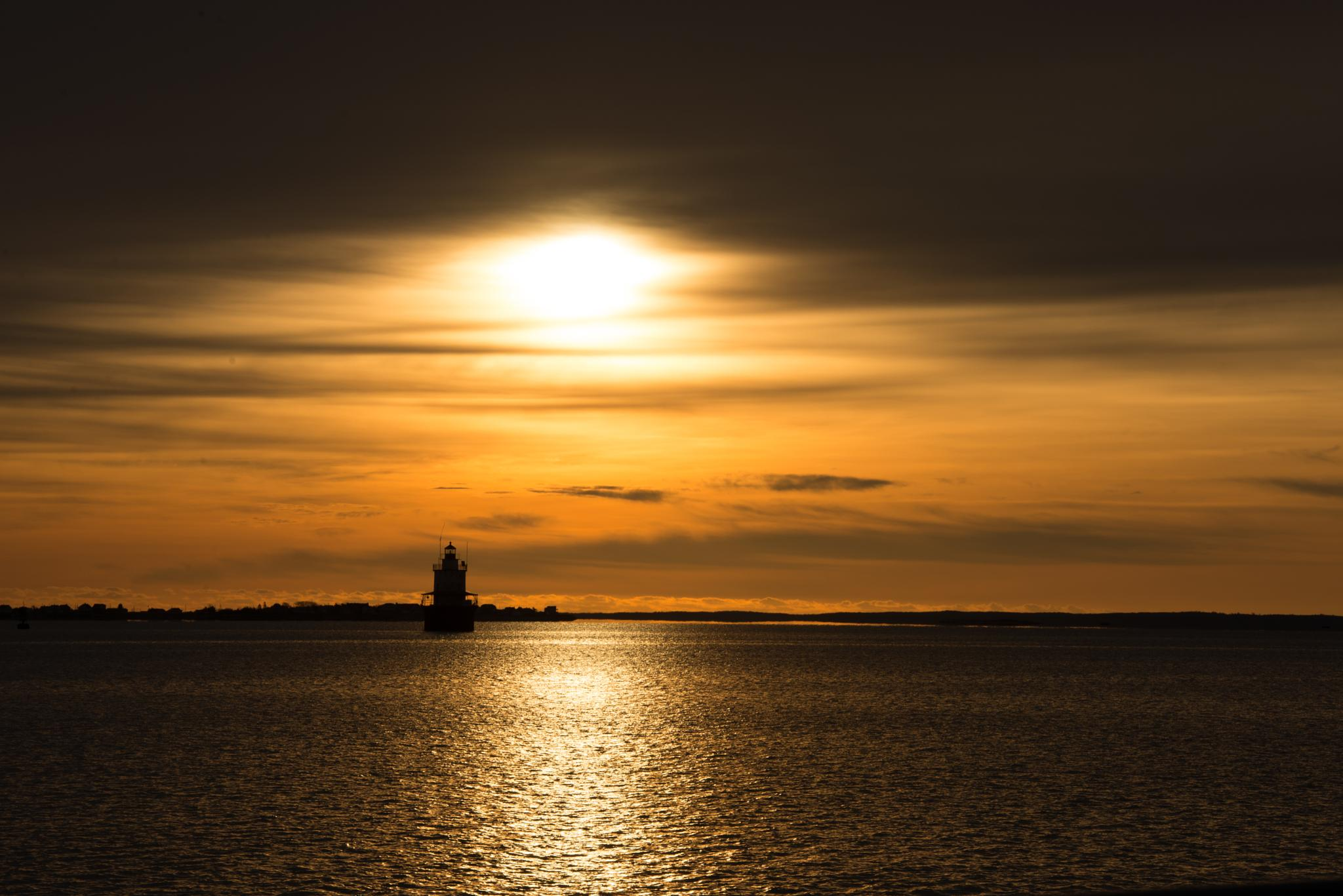 sunrise in New Bedford, MA by jamesmerecki