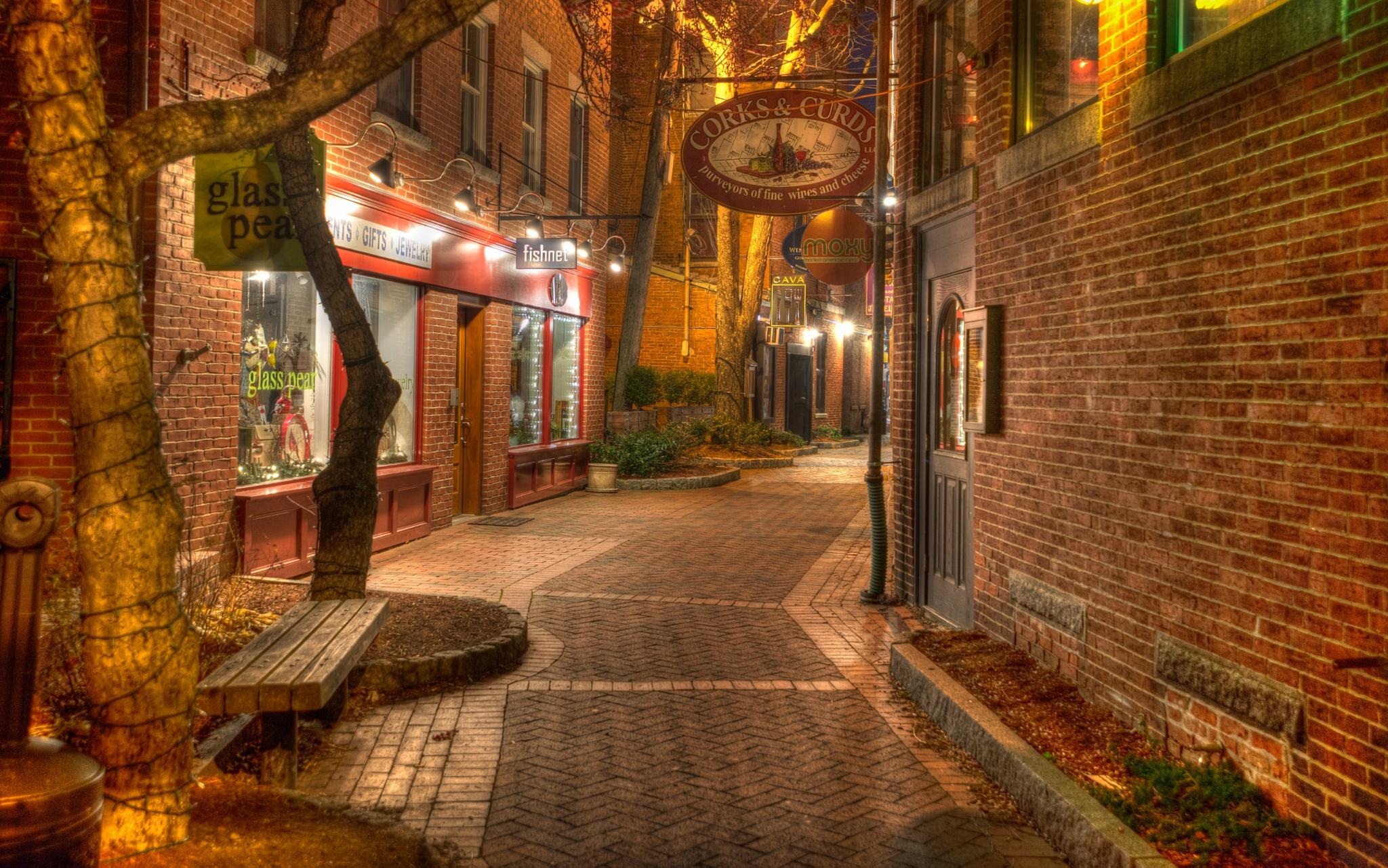 Portsmouth NH - alley art by jamesmerecki