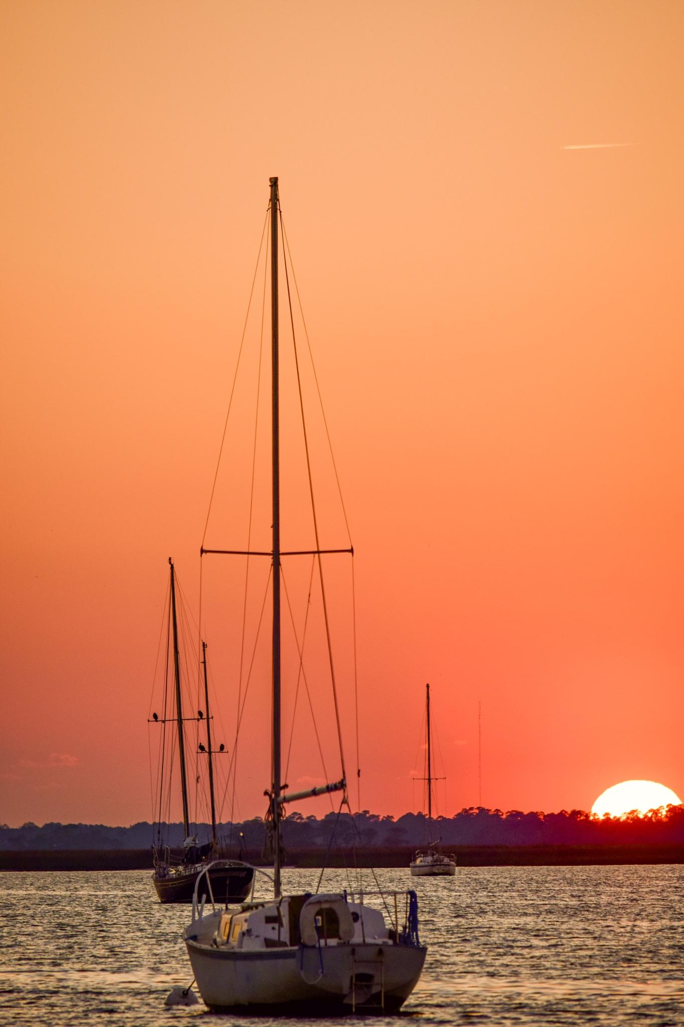 river sunset by PrentissFindlay