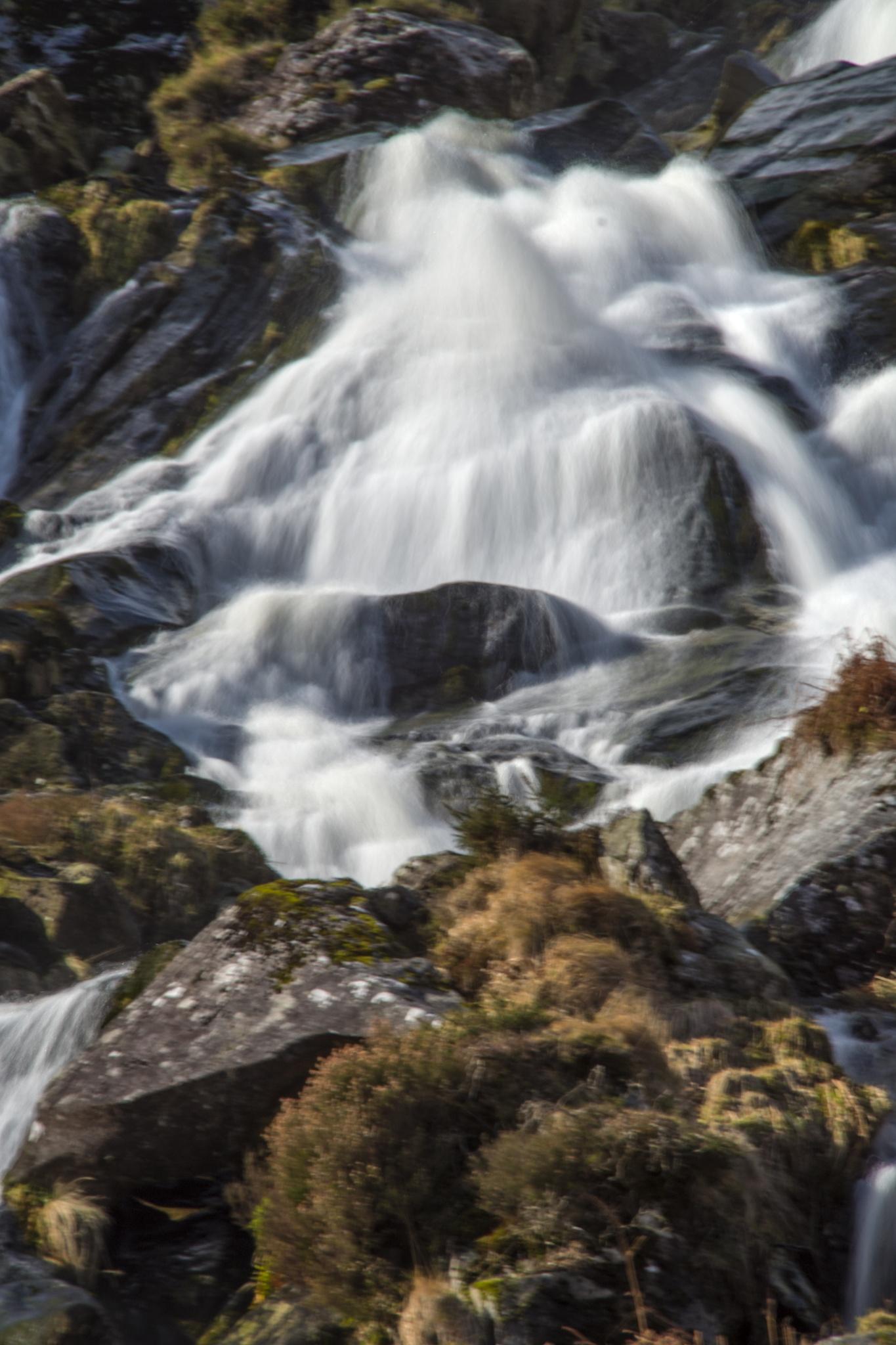 Glenmalure waterfall. by Pat kehoe