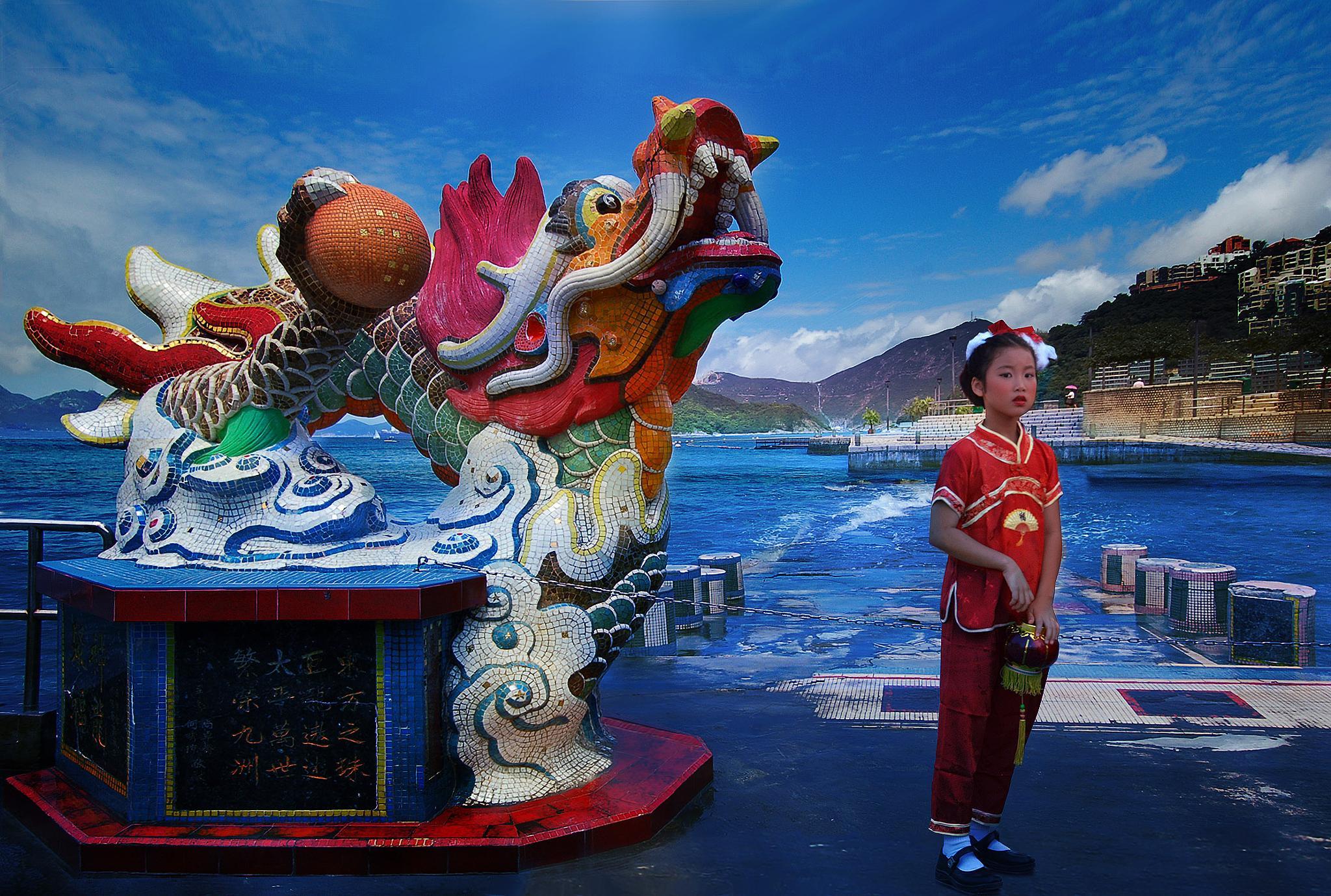 little girl in Hong Kong by Giuseppe Castro