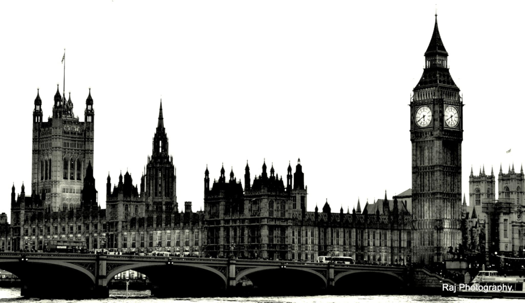Big Ben and Westminster Abbey- London UK by Third Eye