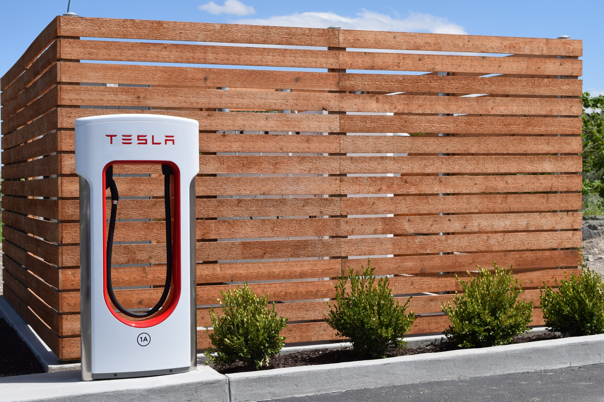 Tesla Charging Station by Tom Young