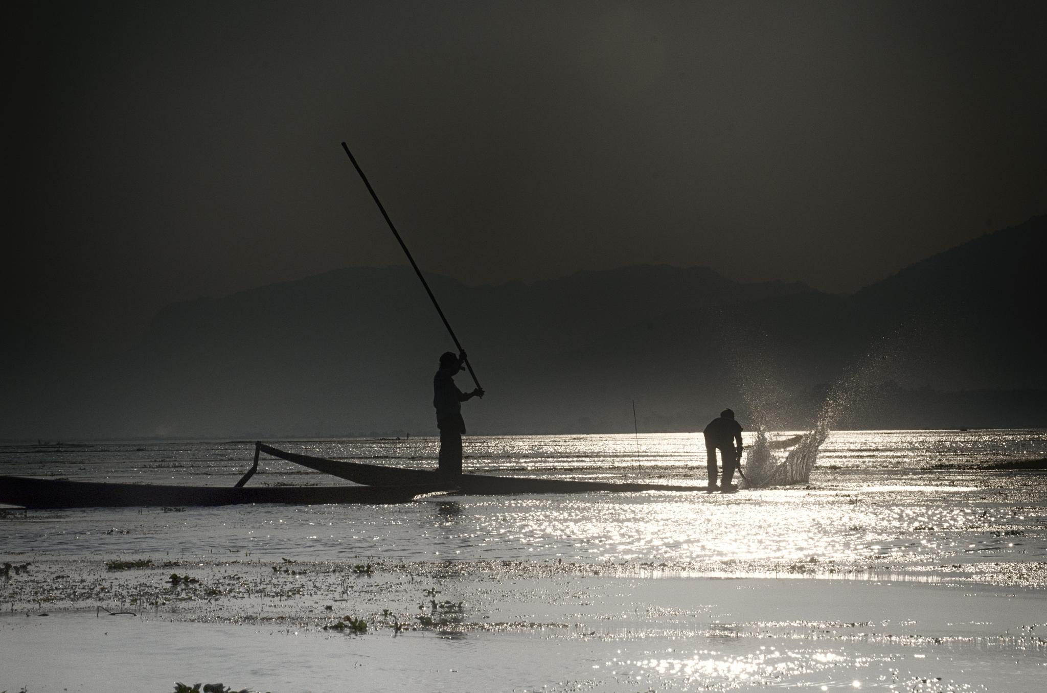 fishermen on Inlay lake, Myanmar by jeece69