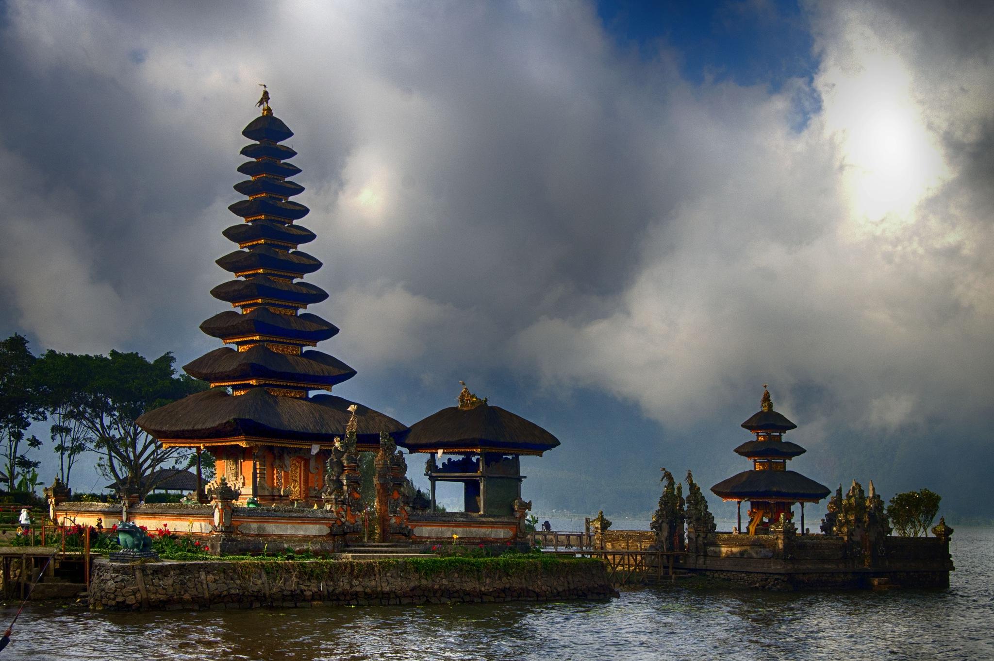 Pura Ulun Danu Bratan temple in Bali, Indonesia by jeece69