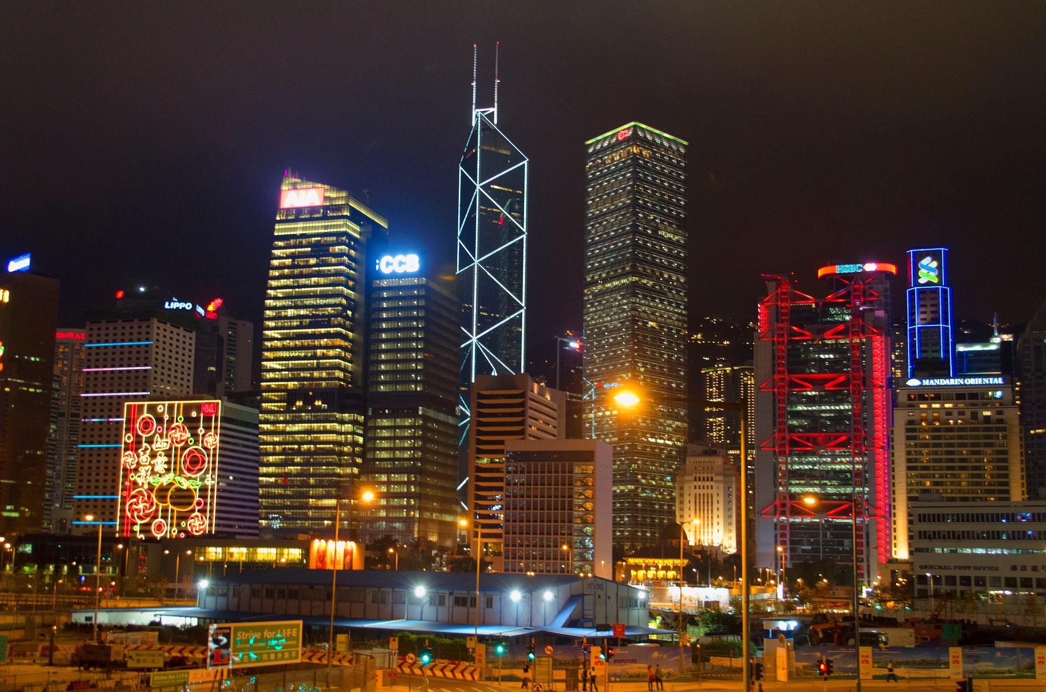 Wanchai by night, Hong-kong by jeece69