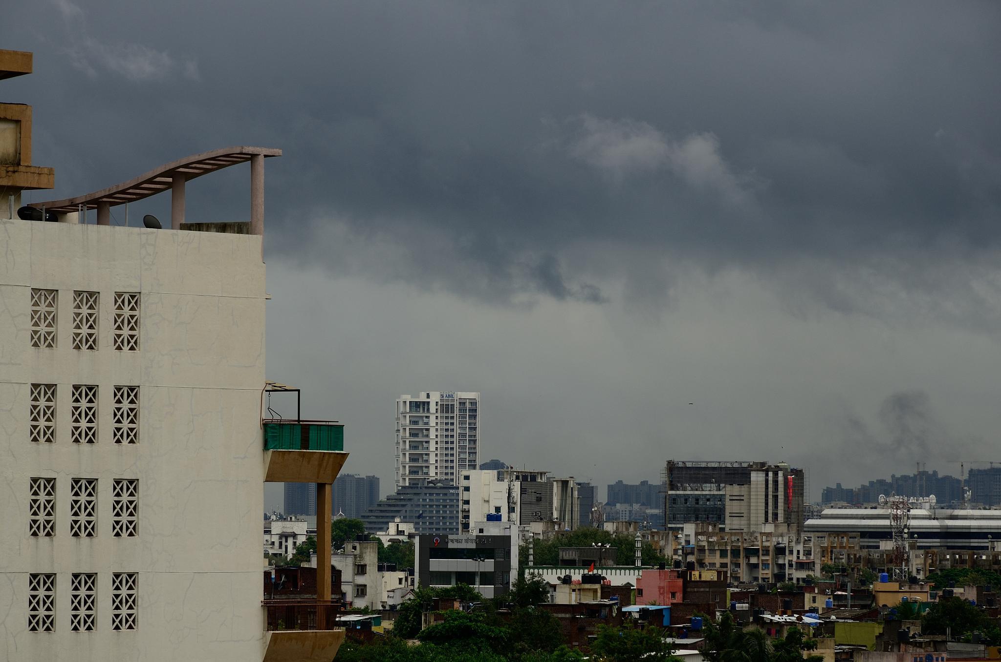 Dark cloud at dusk by Sridhar R Setty