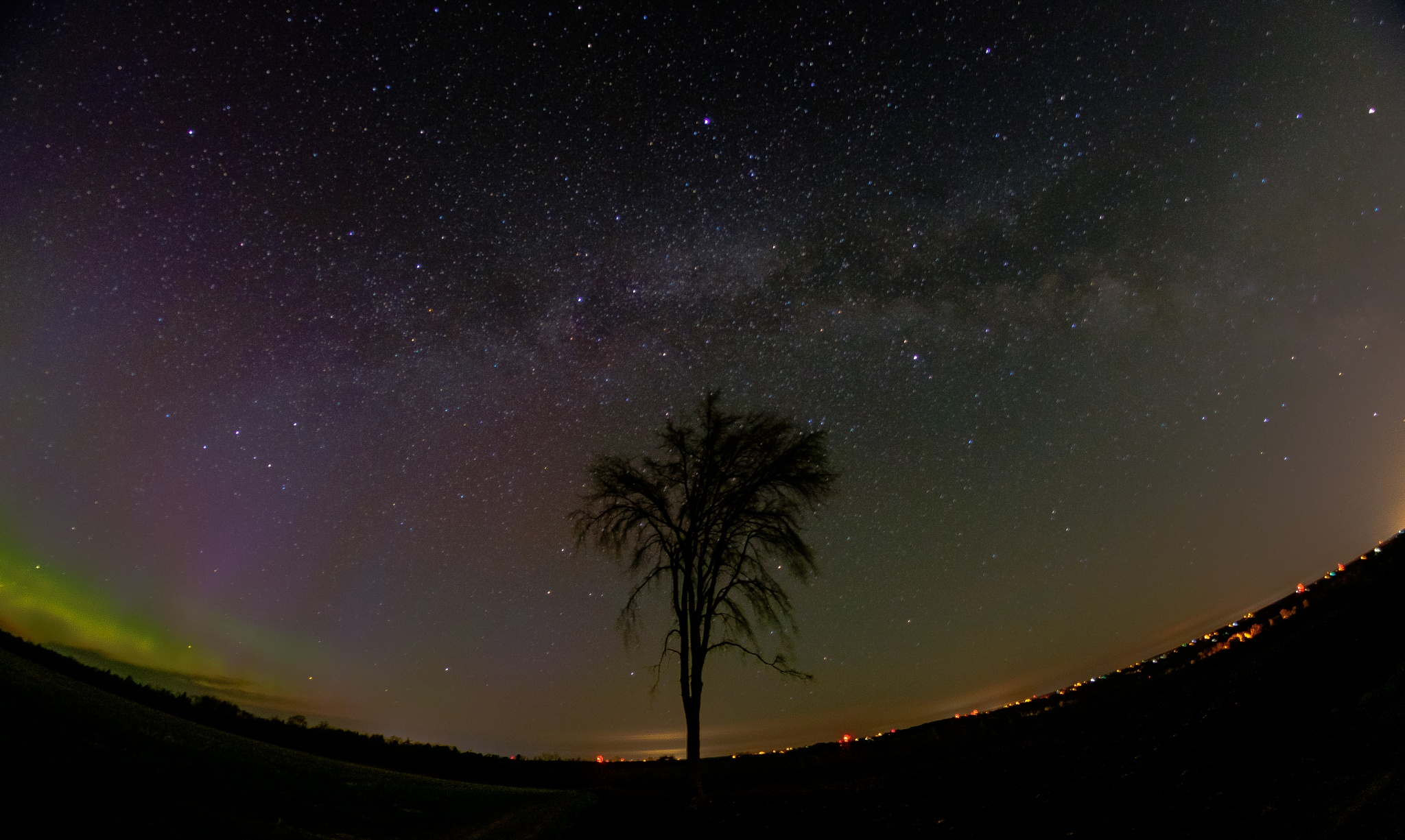 Photo in Astrophotography #aurora borealis #milky way #fujifilm #velvia
