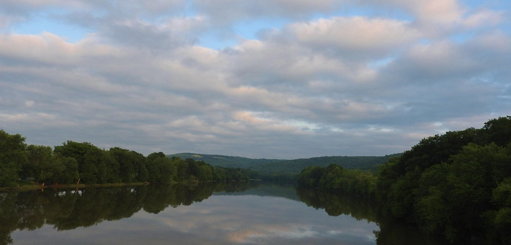 Reflections of the Susquehanna River on the 4th of July by Denni
