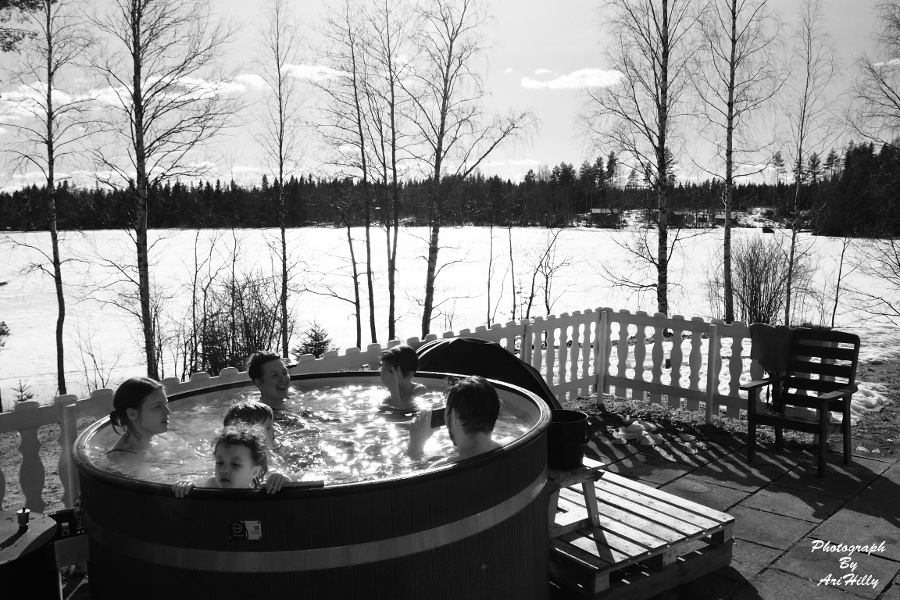 We love taking a bath here in Finland even in winter by AriHilly