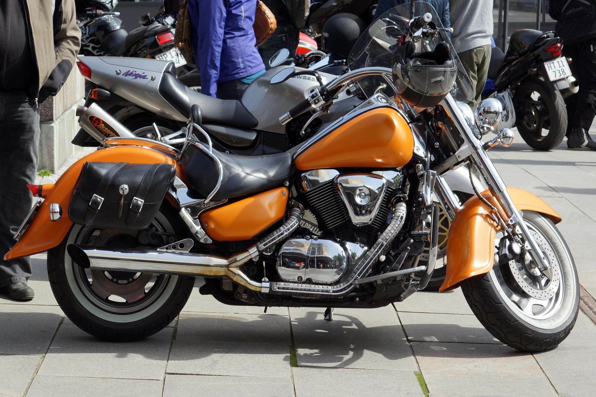 Photo in Vehicle #motorbike #nice #orange #chrome