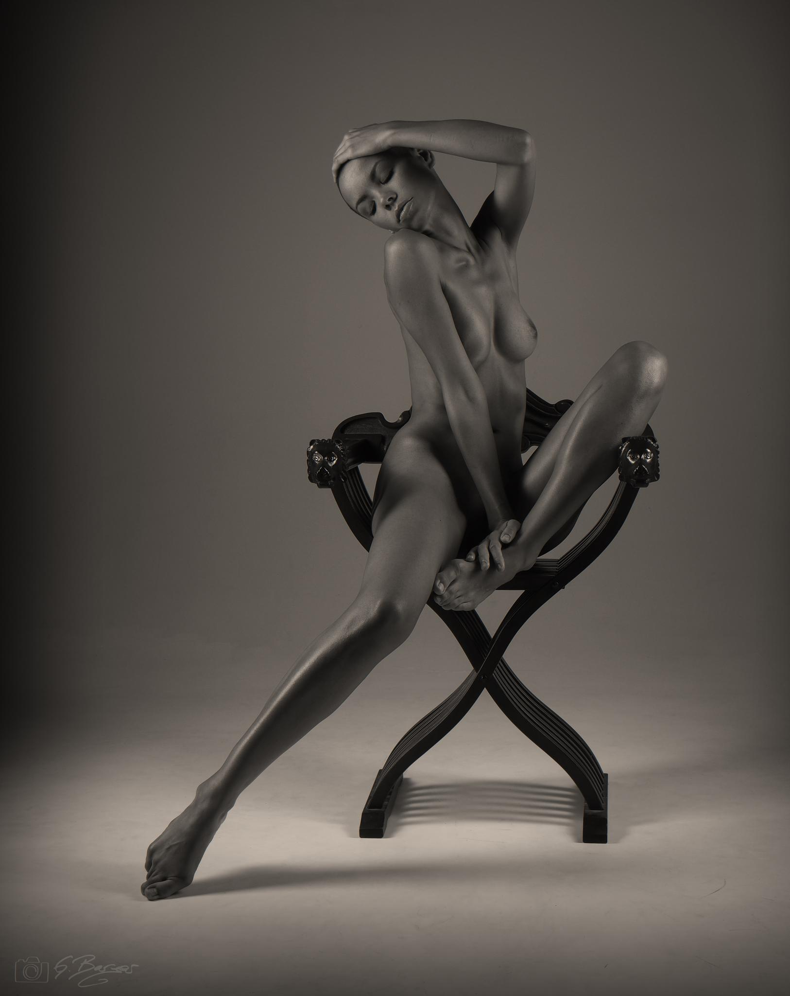Dorka and the chair by Gerald Berger
