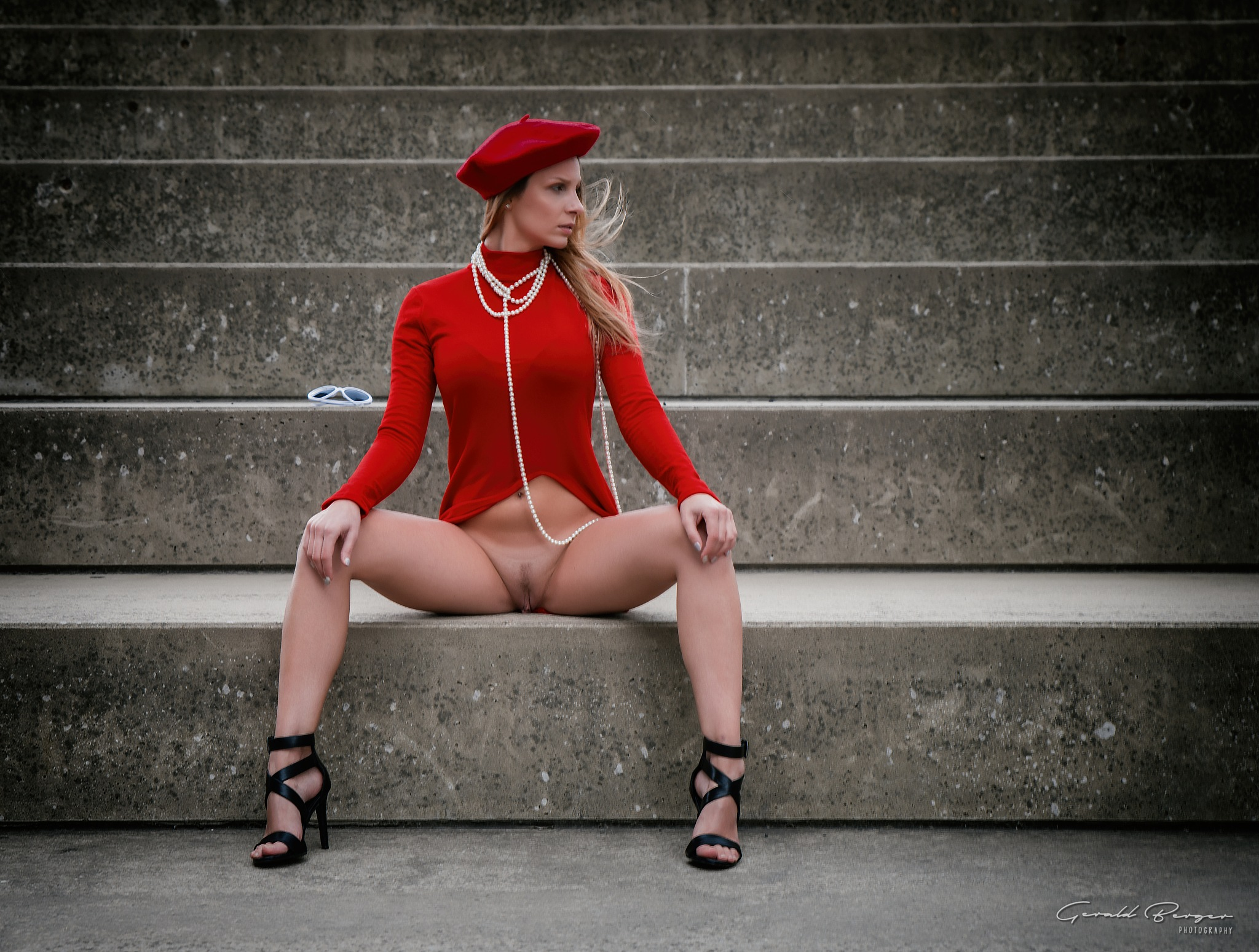 Red Dress by Gerald Berger