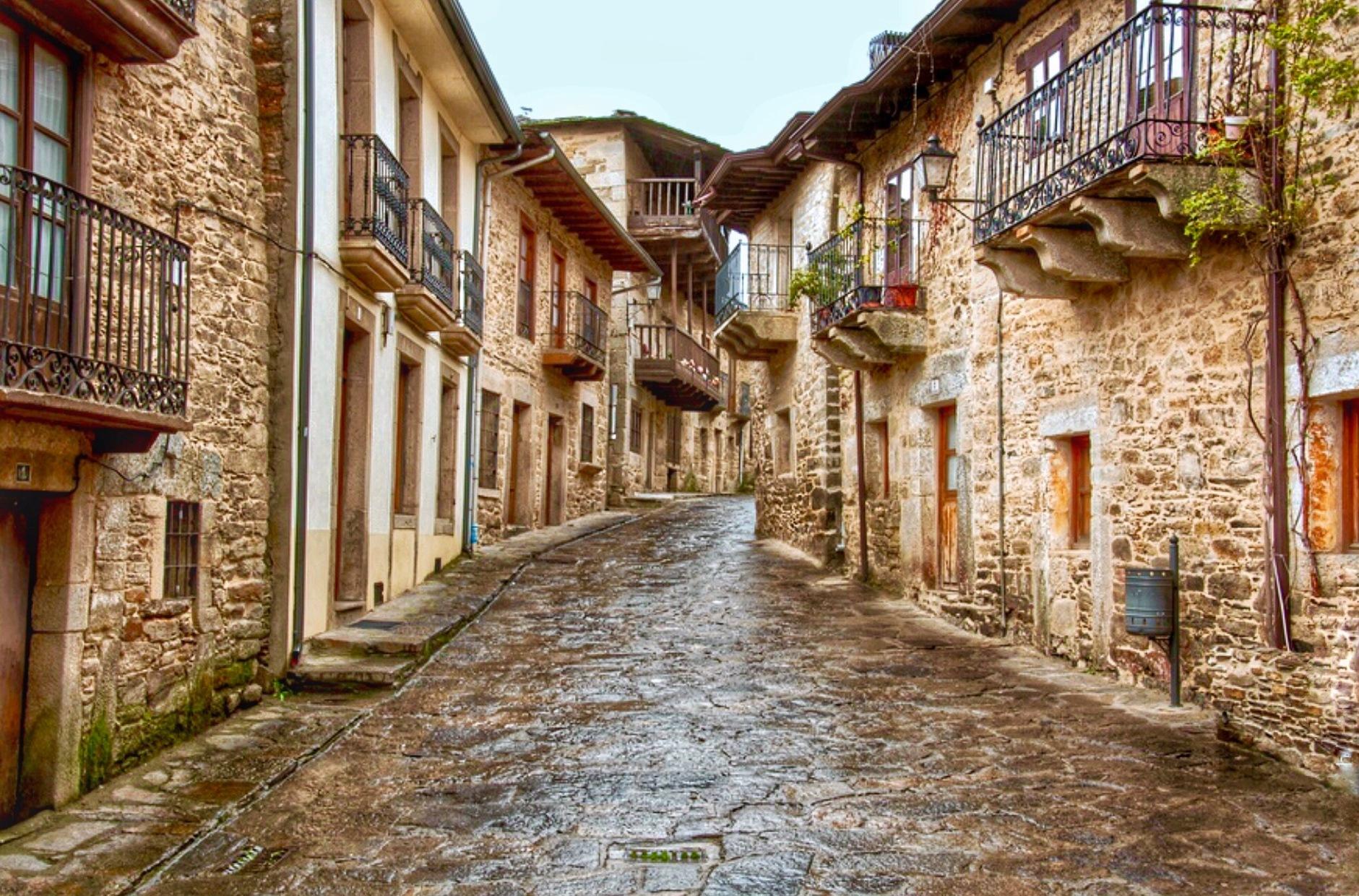 A village street by Gregorio Emper