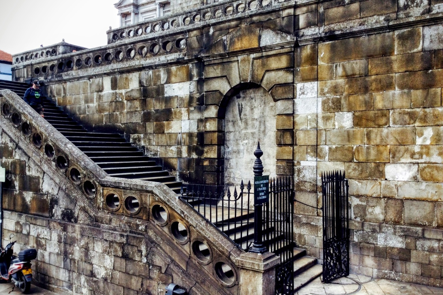 Porto Cathedral side stair. by Gregorio Emper
