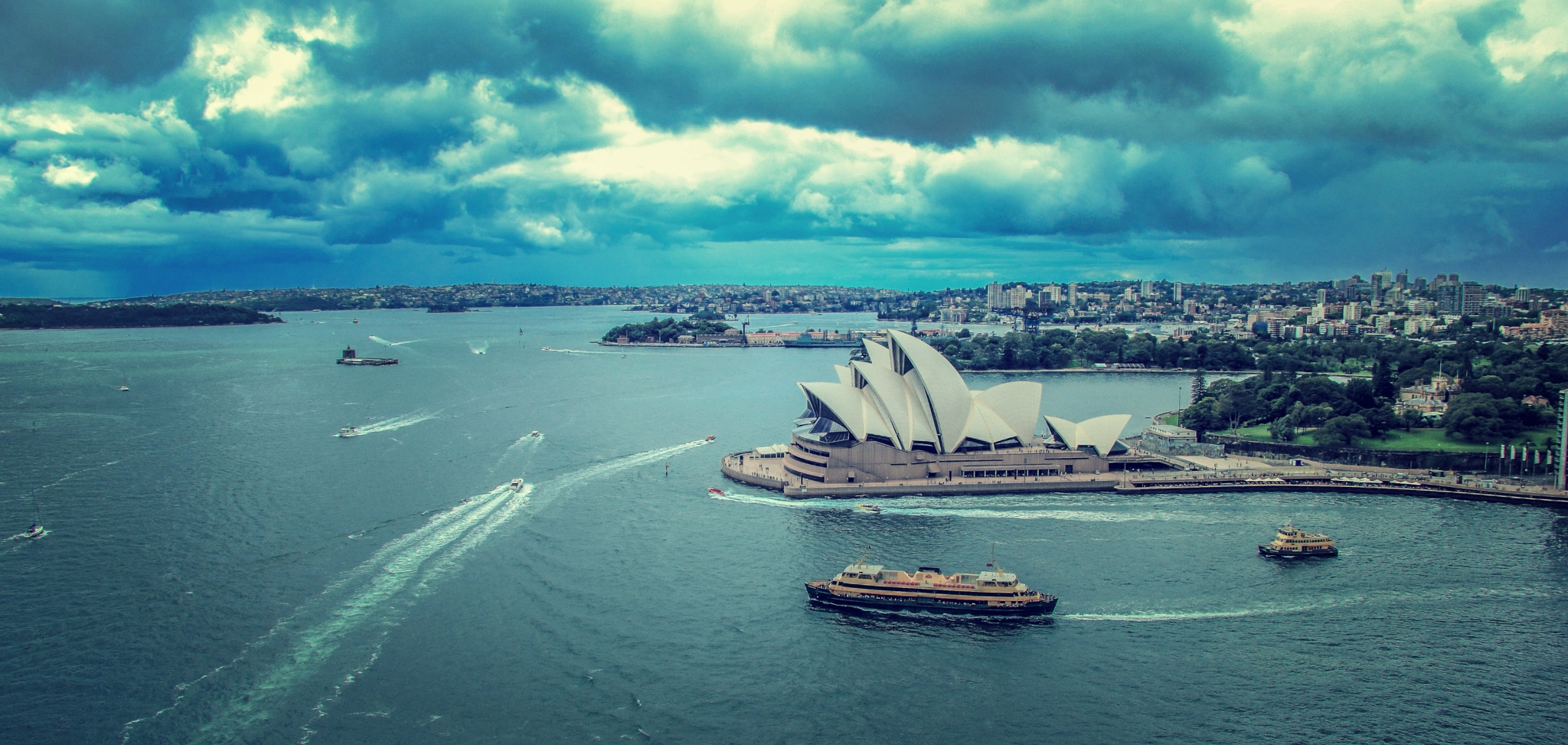 storm brewing over the city by julz