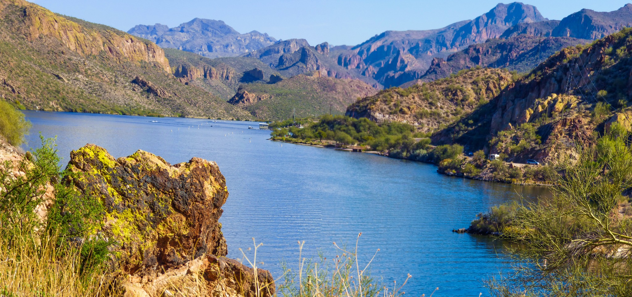 The Southern End of Canyon Lake, Arizona by OrcinusFotograffy