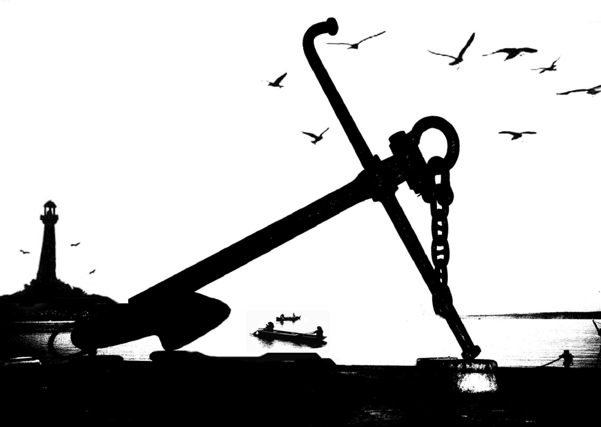 Fishermen and anchor by Hočevar Robert