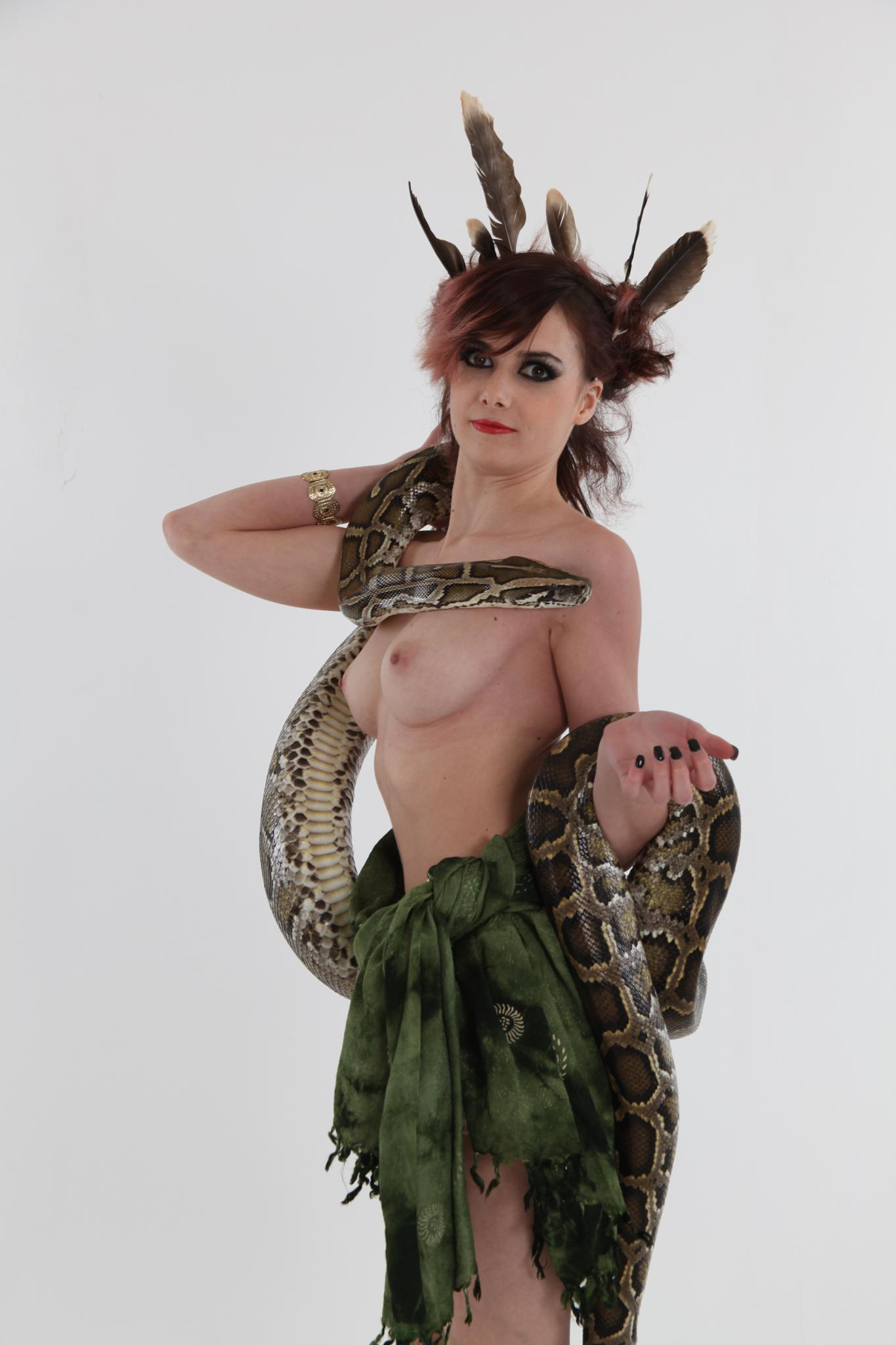 nude with a snake by Jaak BELLEN