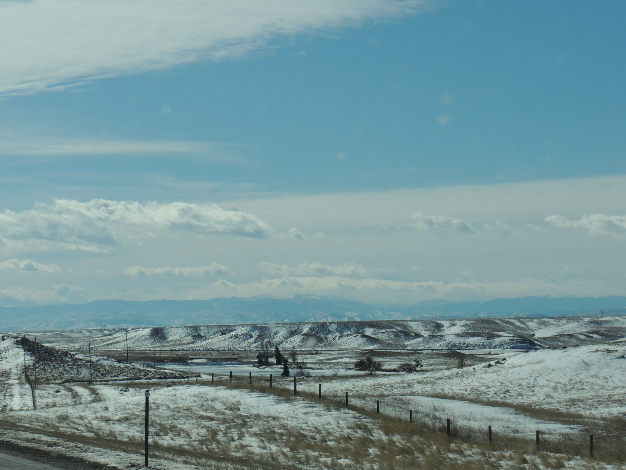 Snowy Wyoming landscape by sh2020