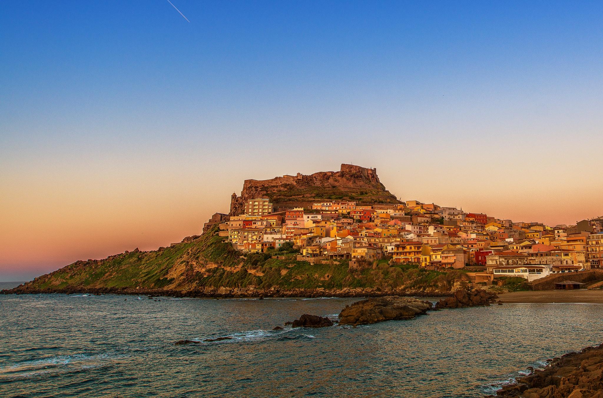 Castelsardo sunset by Antonello Madau Antofender