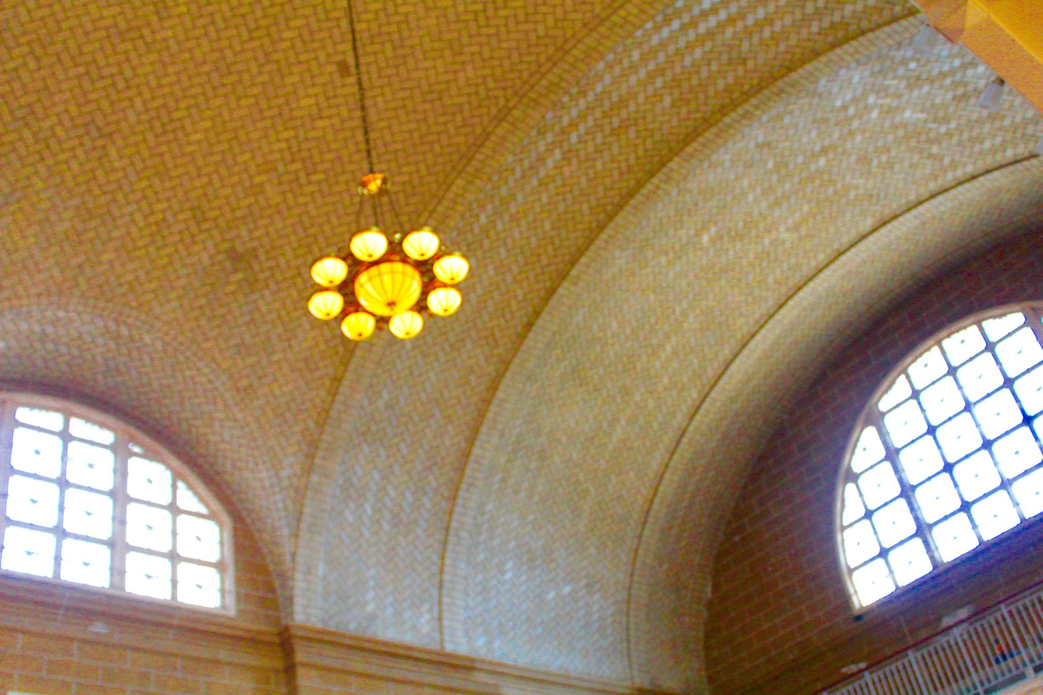 View of the Ceiling at Ellis Island by Snickandmephotography
