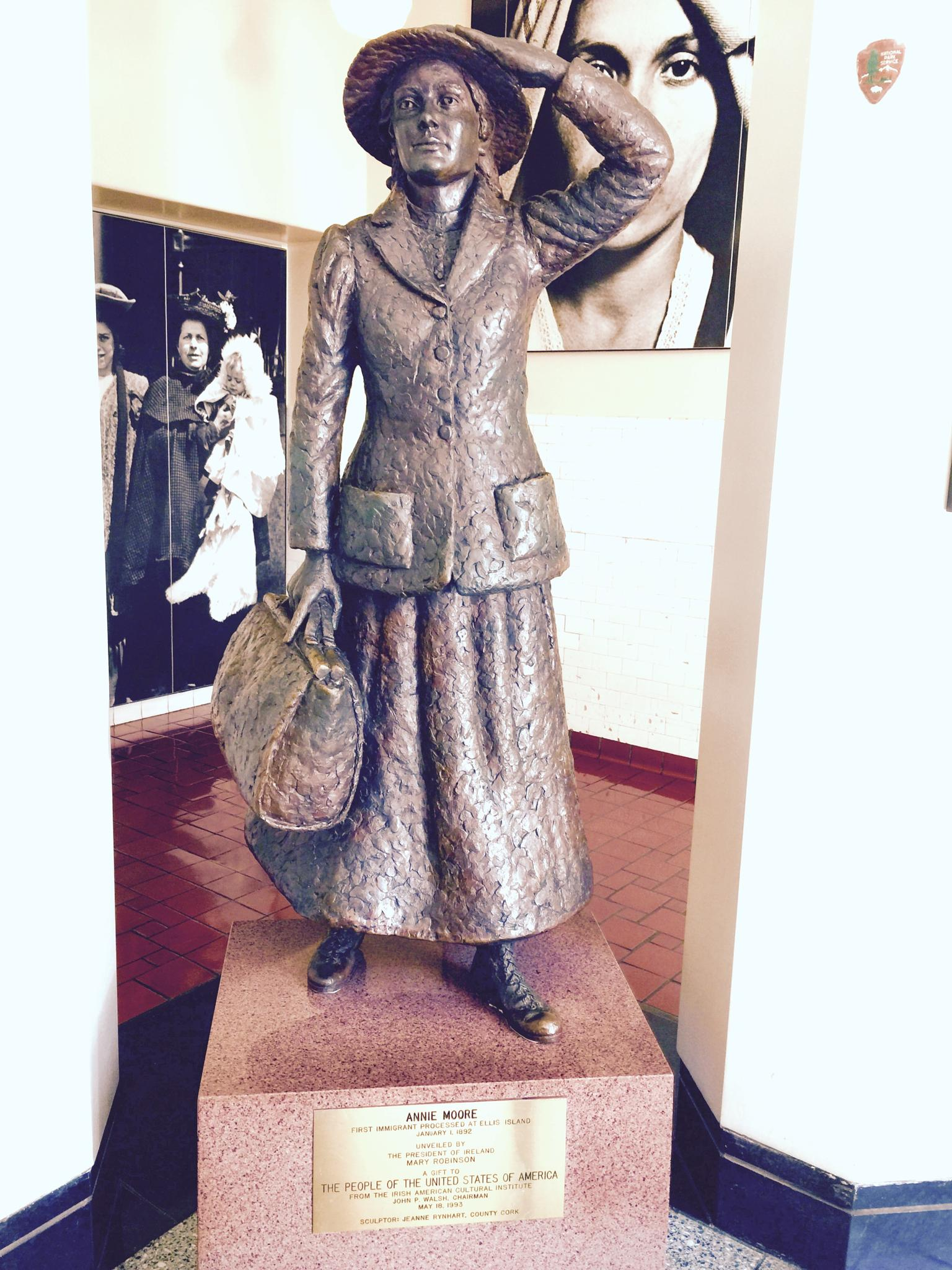 Annie Moore - 1st Person Ever Processed at Ellis Island - January 1, 1892 by Snickandmephotography