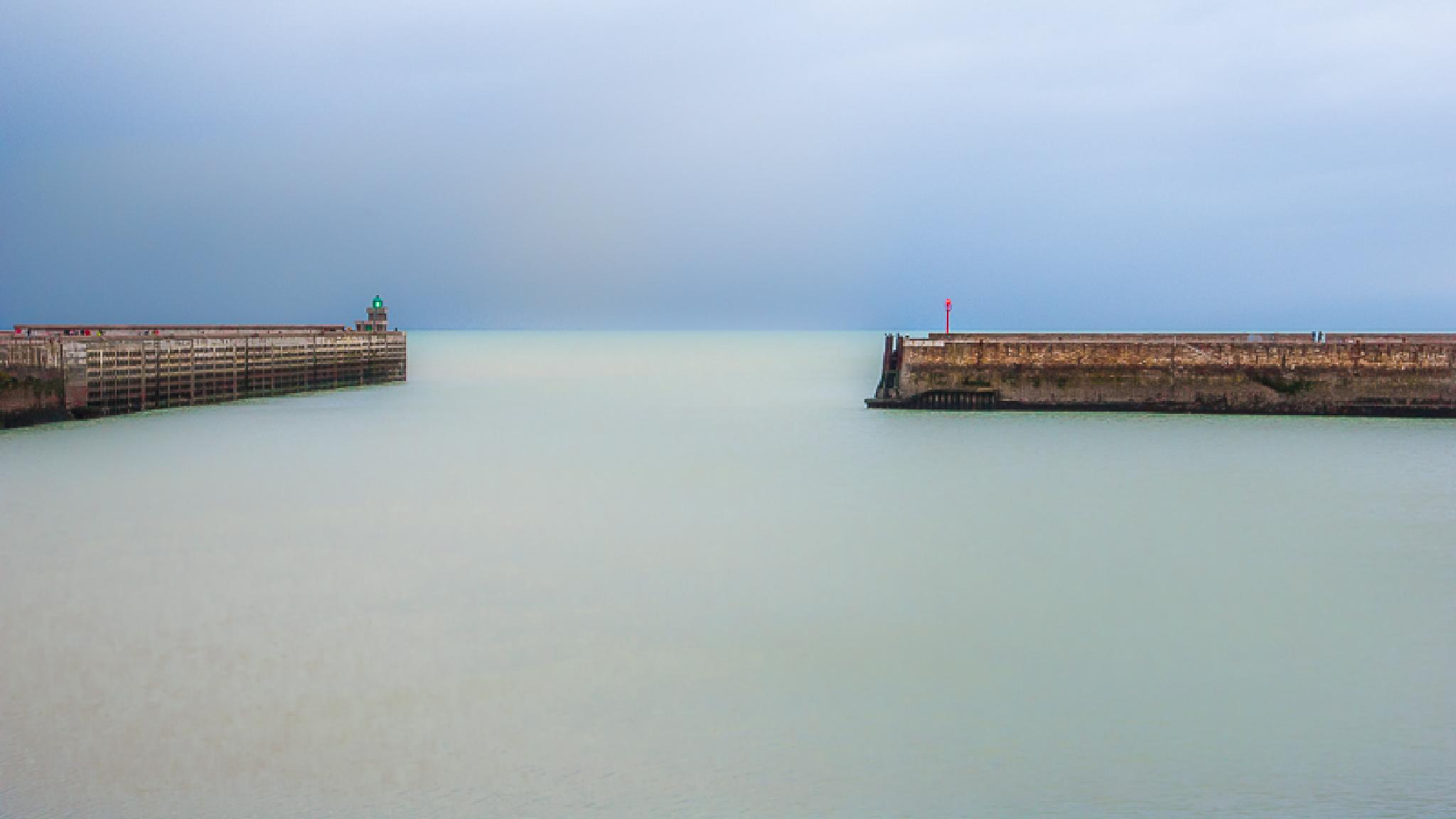 Photo in Sea and Sand #dieppe #pier #jetee #mer