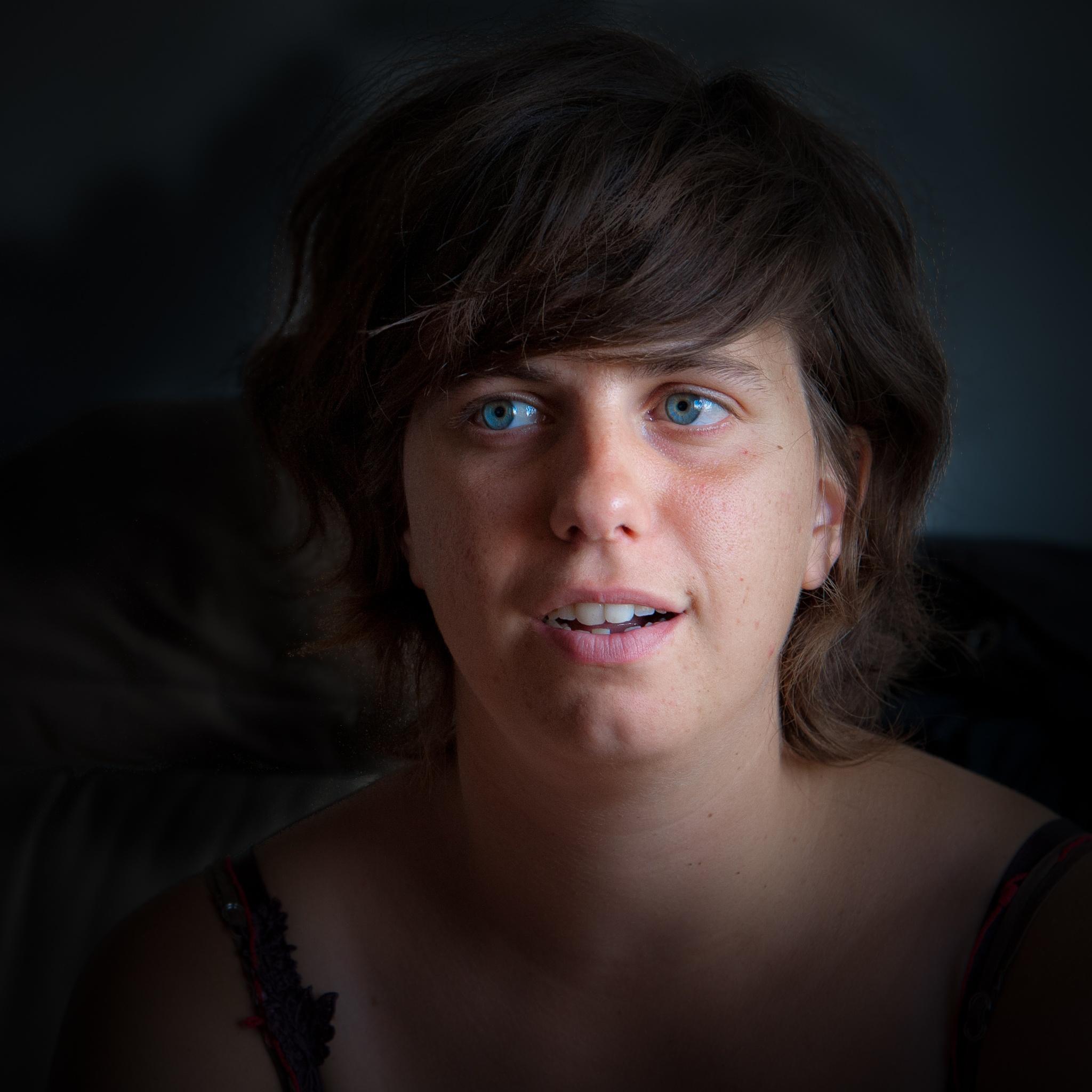 Chloe's eyes by Brigitte SANEGRE