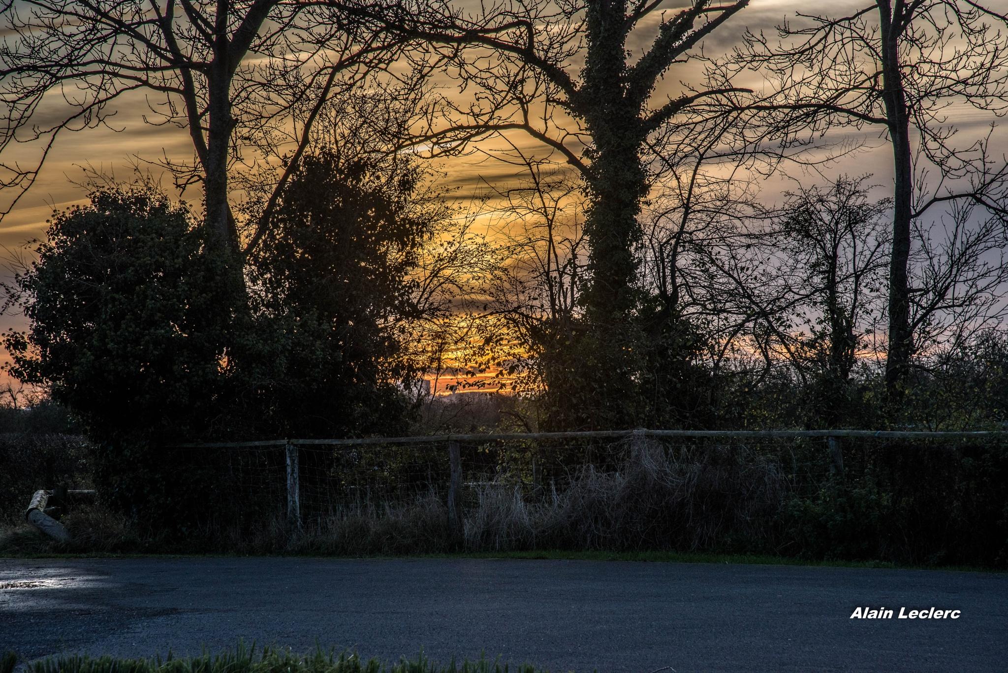 coucher de soleil maison de la nature Sallenelles (8222) by leclercalainmail