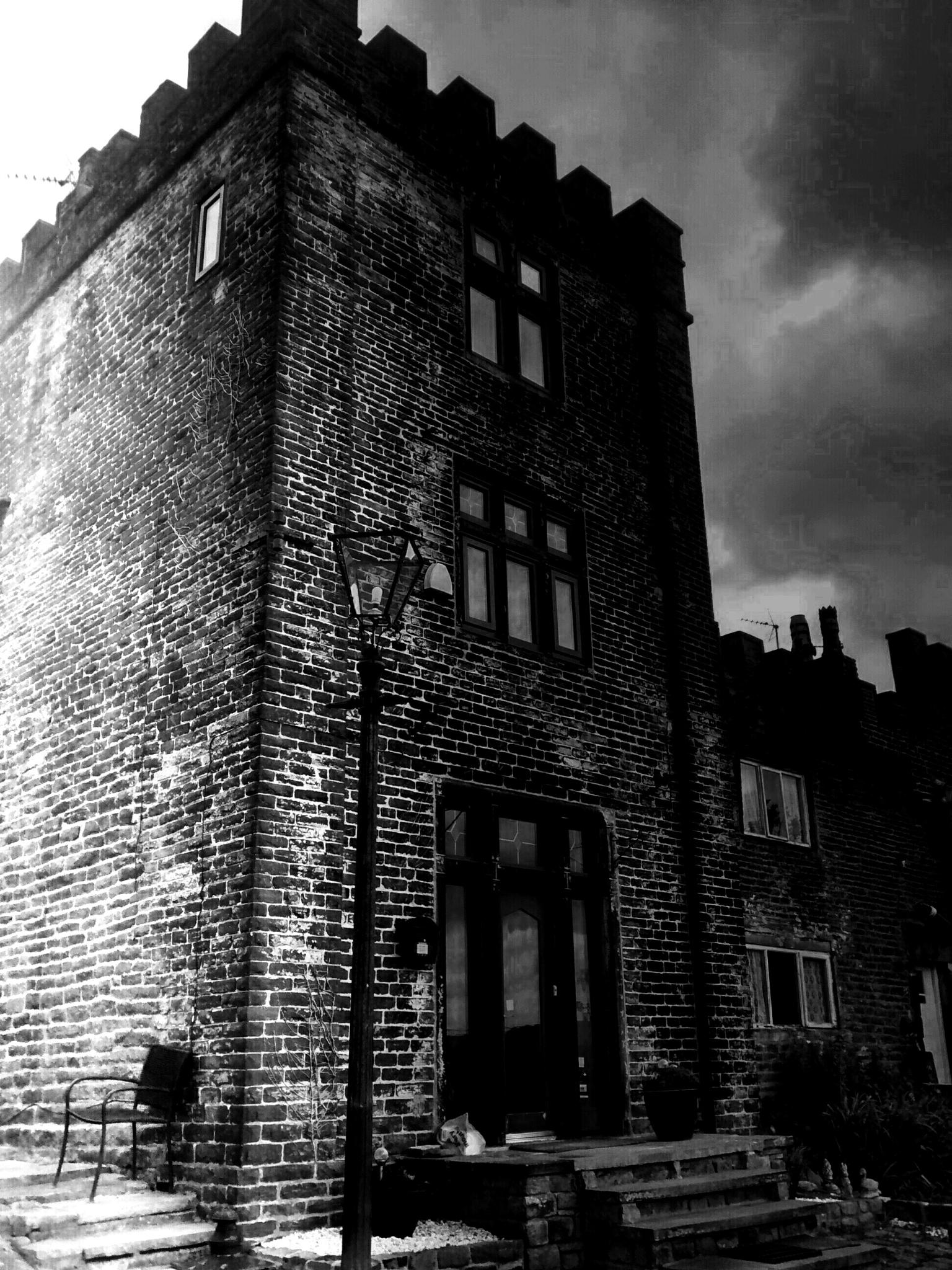 Photo in Black and White #matley castle #black and white #mottram #cheshire #england #tameside