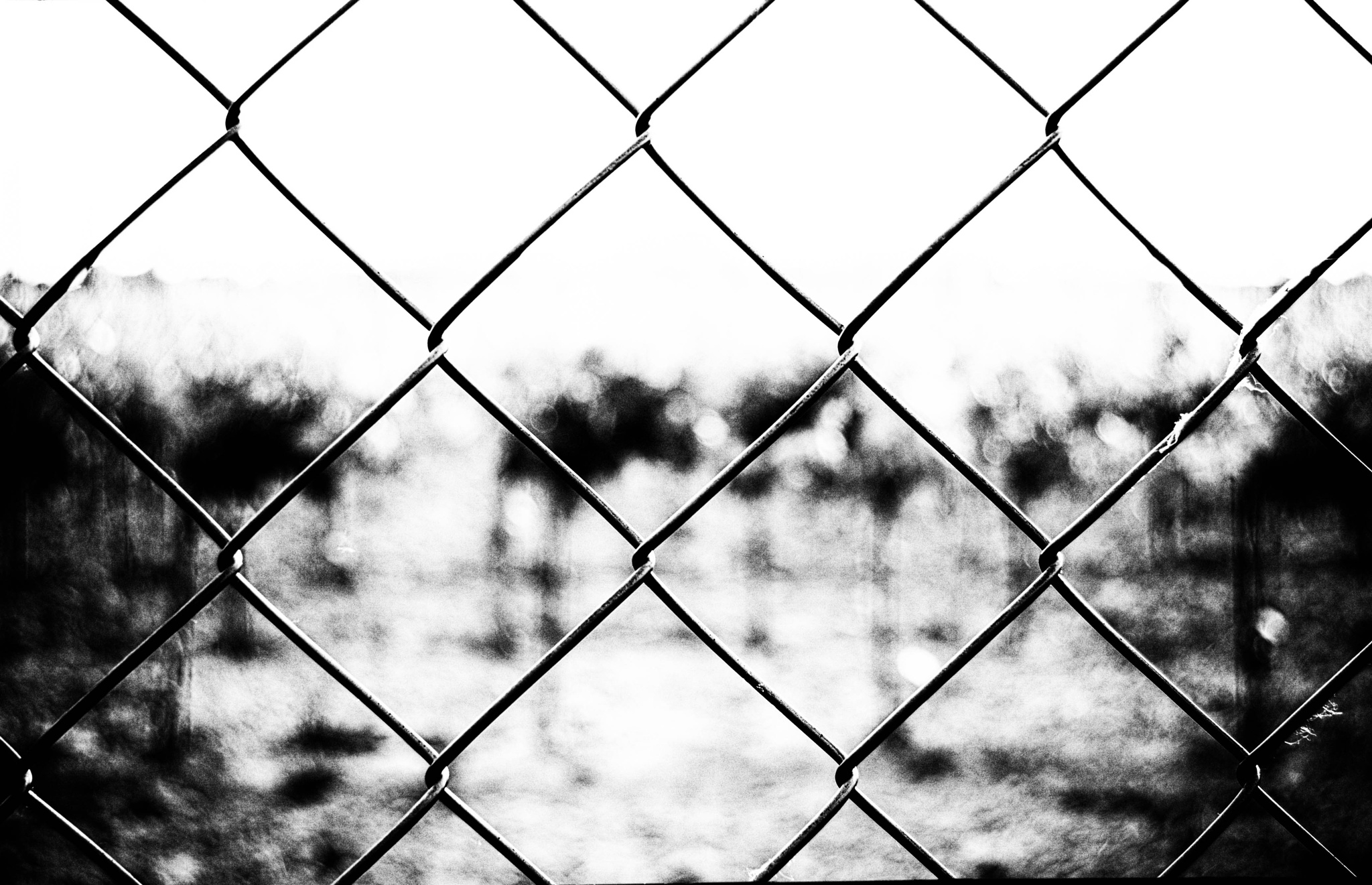 Photo in Industrial #freedom #fence #black and white