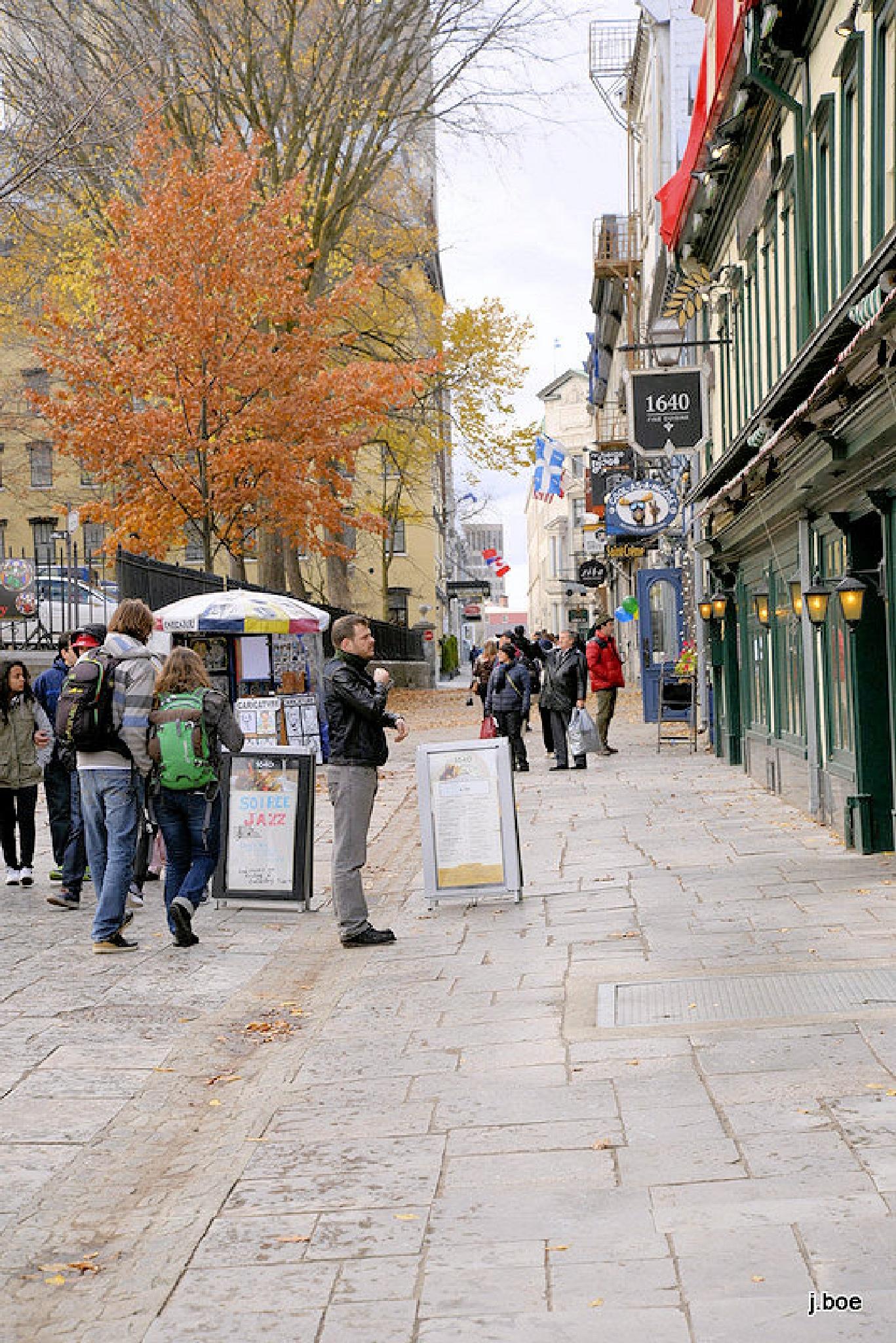 2015.11.07 - Street in Old Quebec by j.boe