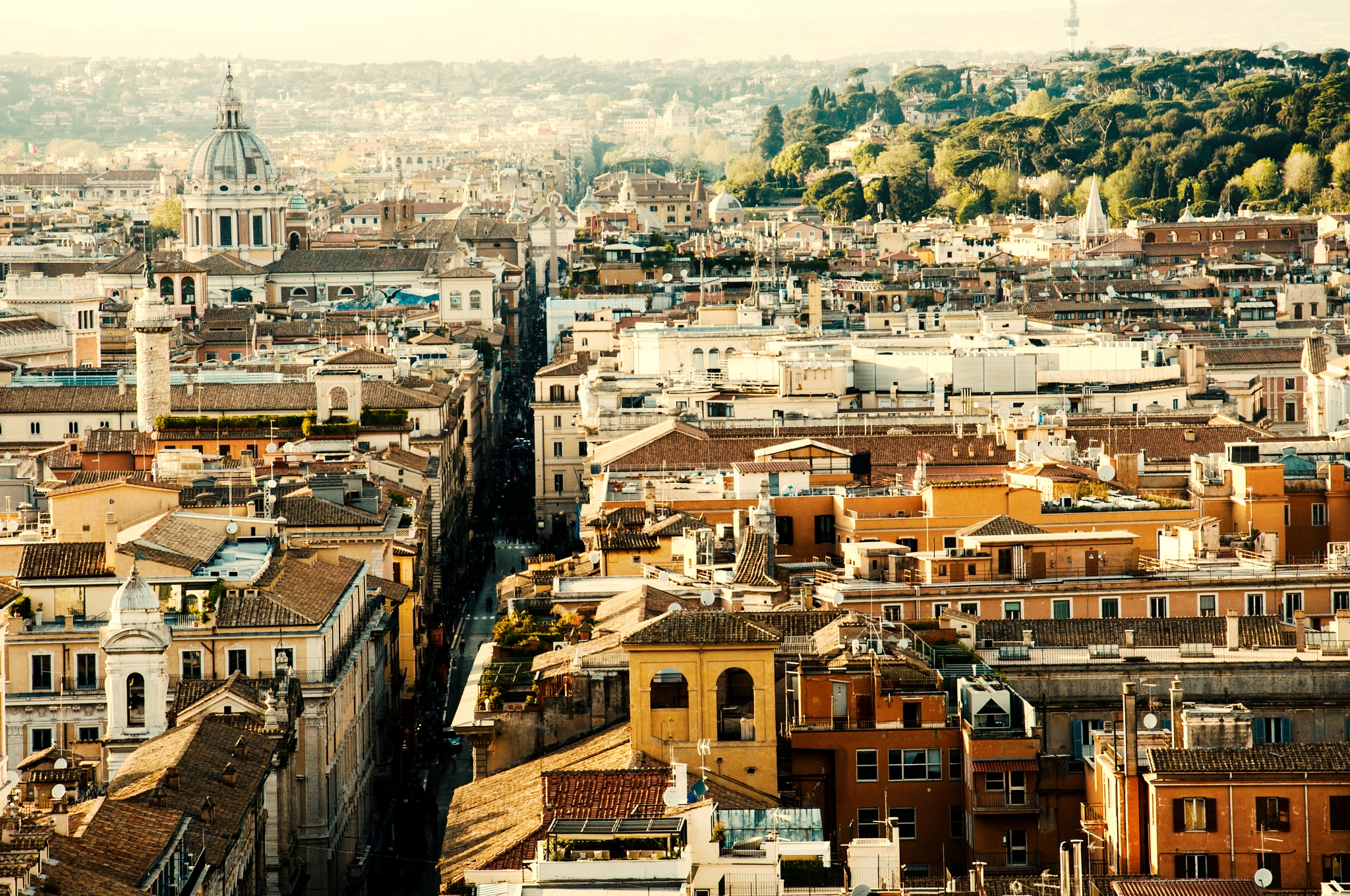 Roofs Rome by Luca Schiavello