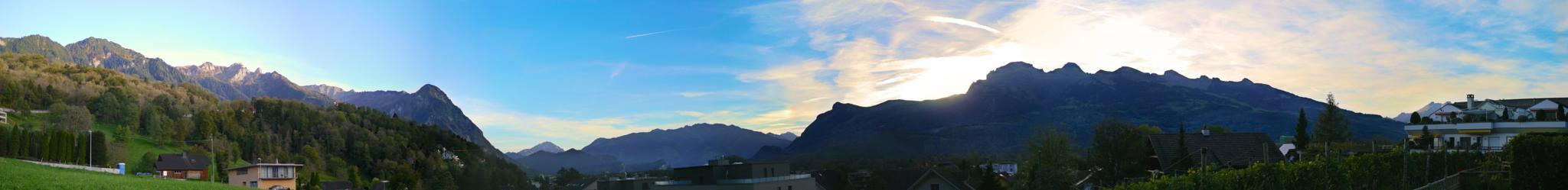 Panoramic from Liechtenstein by Rupert Quaderer