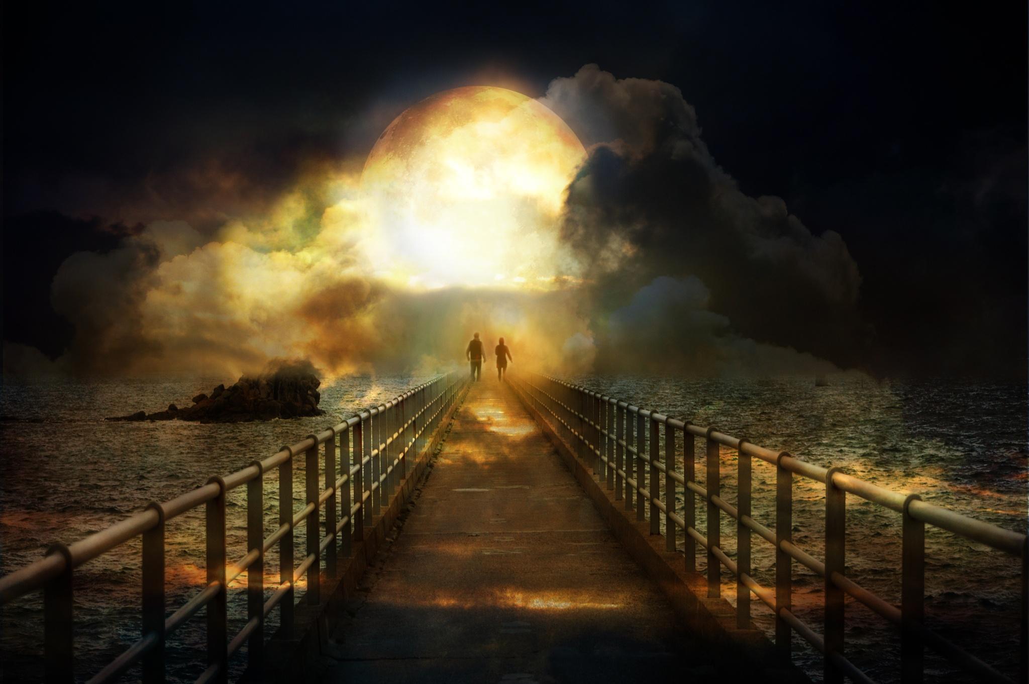 Bridge to the moon by Ludmila Shumilova