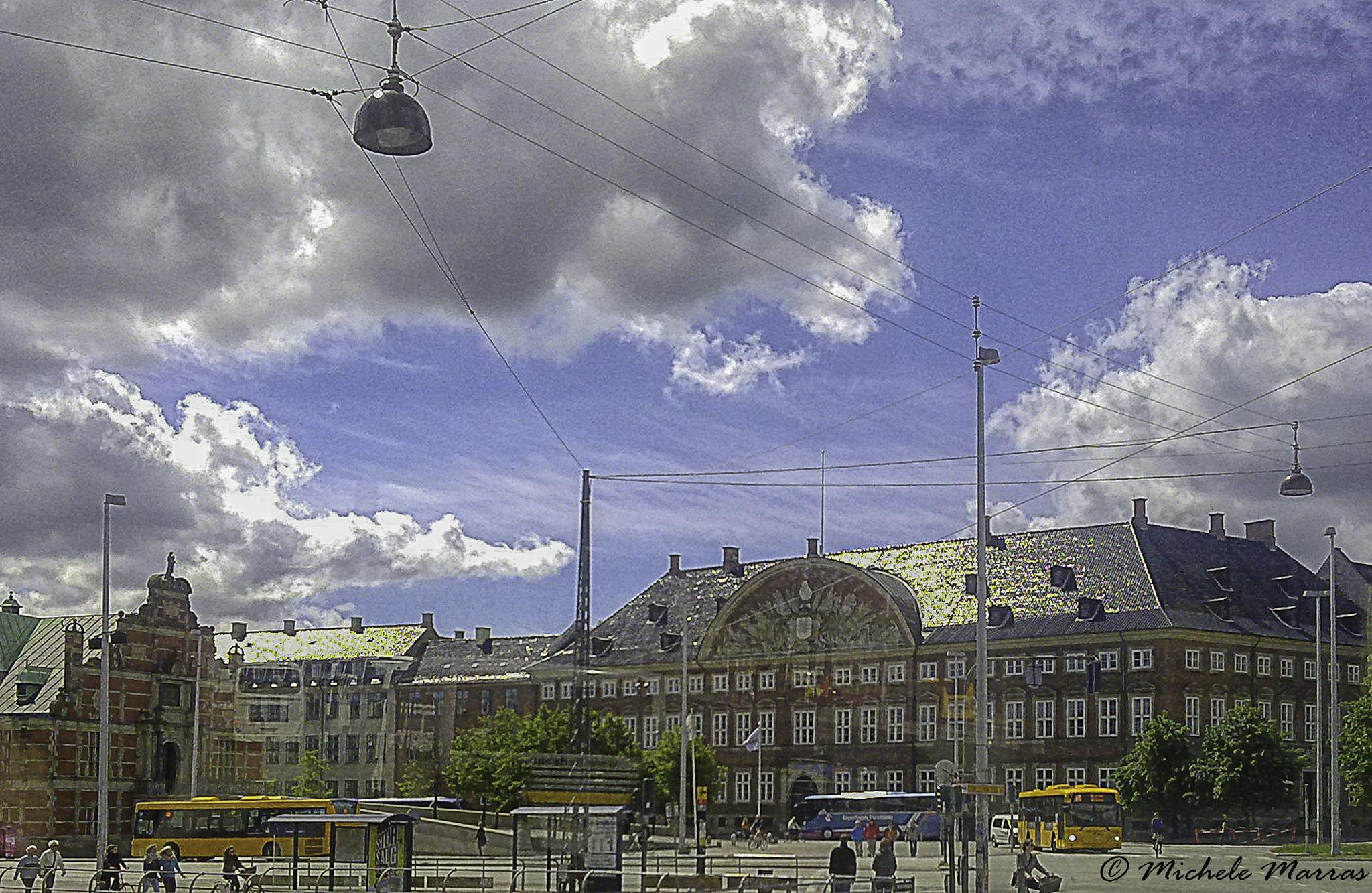The Copenaghen street by Michele Pinna Marras
