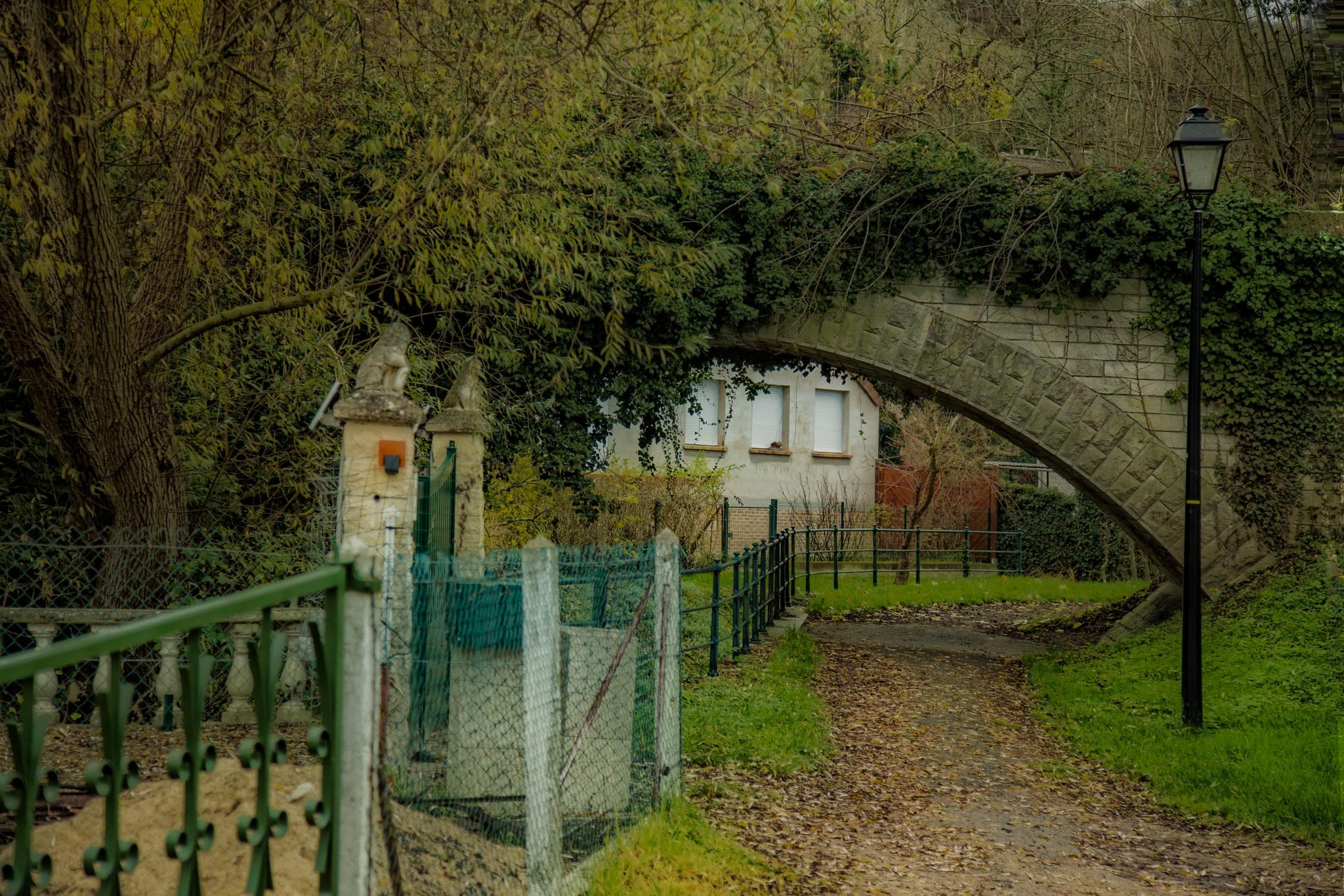 A Country Lane.  Conflans-Ste. Honorine by stanlupo