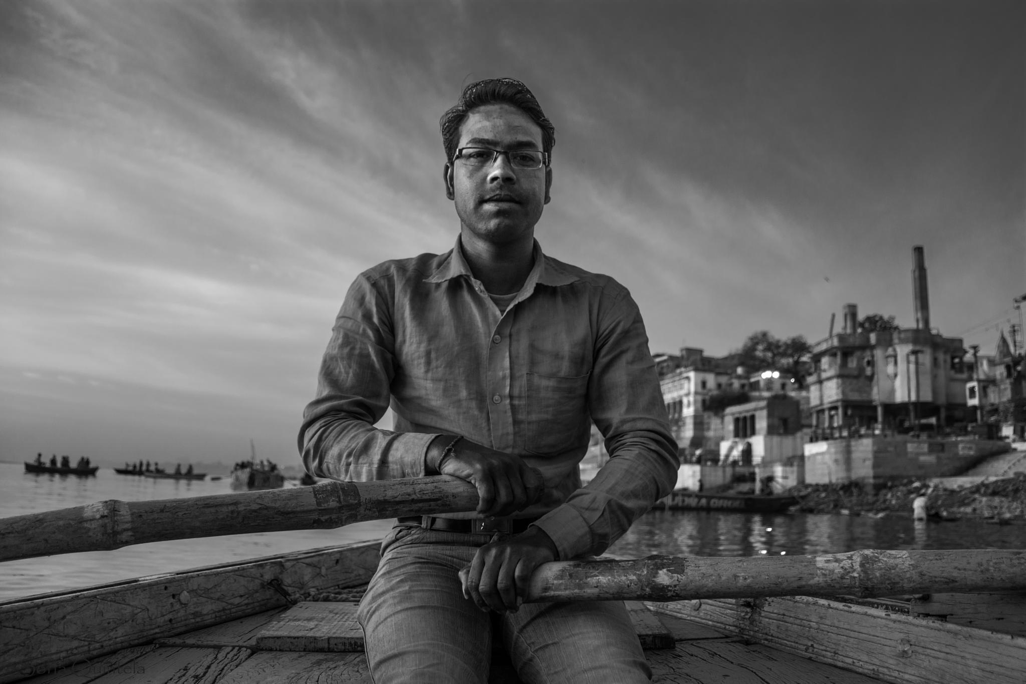 GangesBoatman by Sofia Quintela