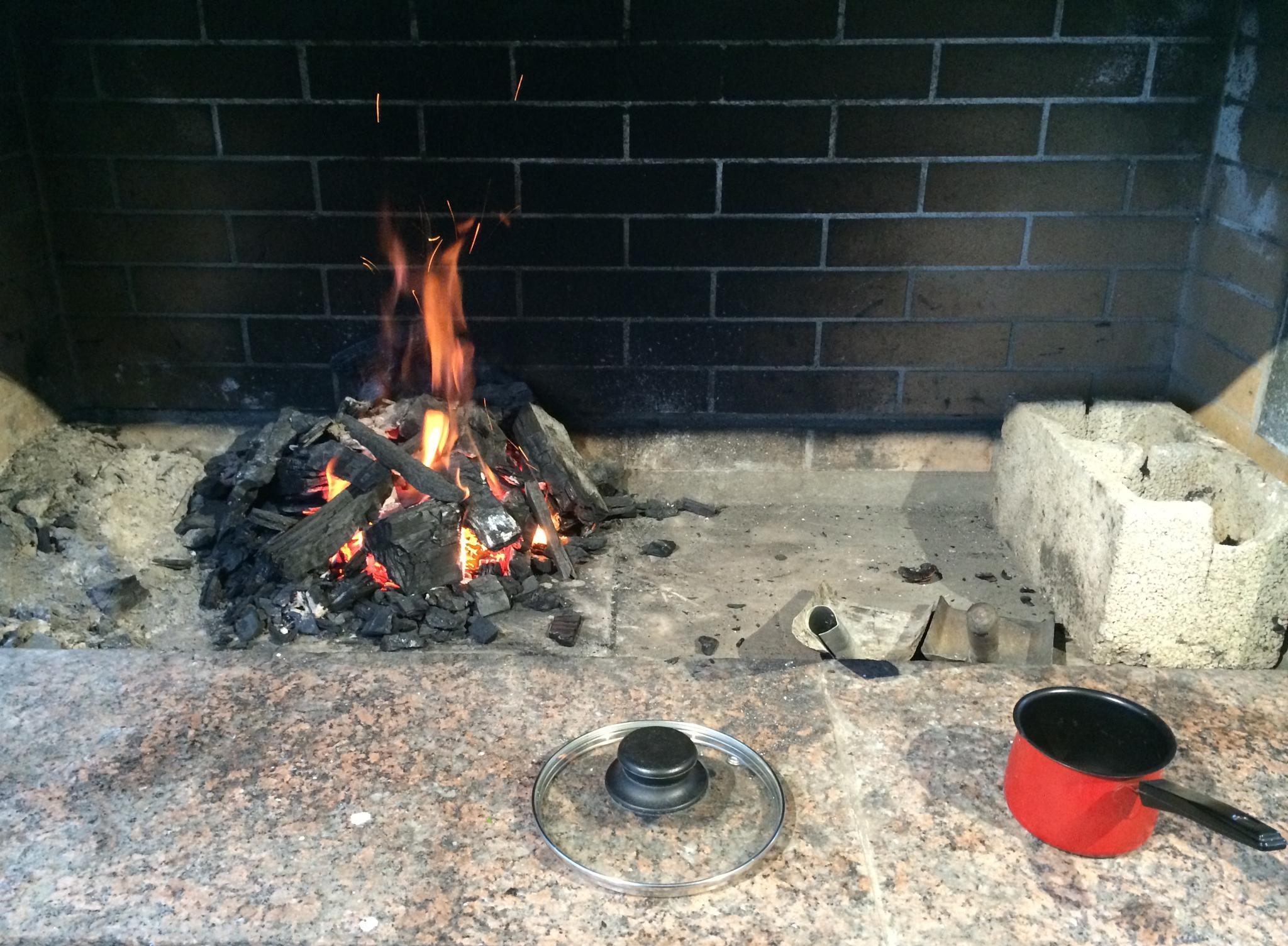 Fireplace before cooking by m.etemadieh