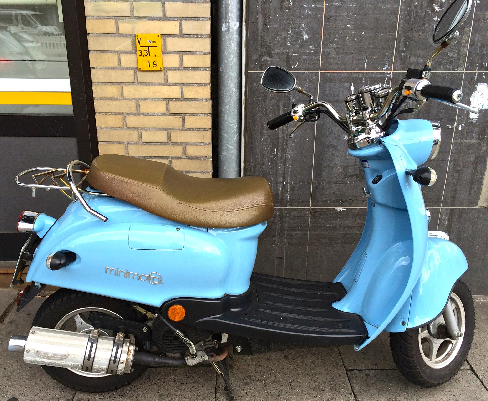 minimoto lightblue in the city by m.etemadieh